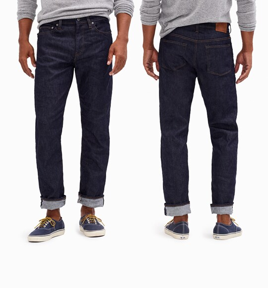 mens fit guide denim
