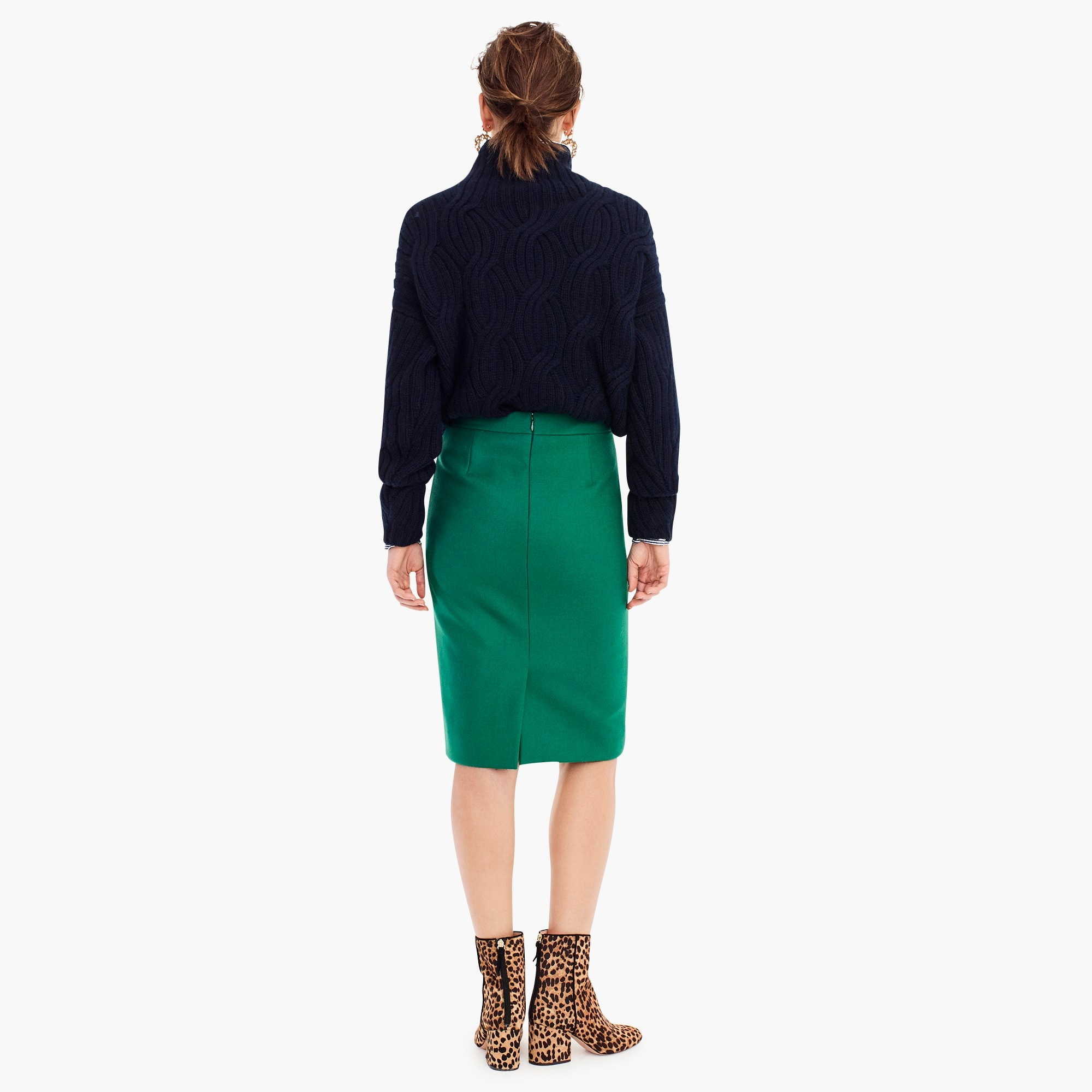 Image 5 for No. 2 pencil skirt in double-serge wool