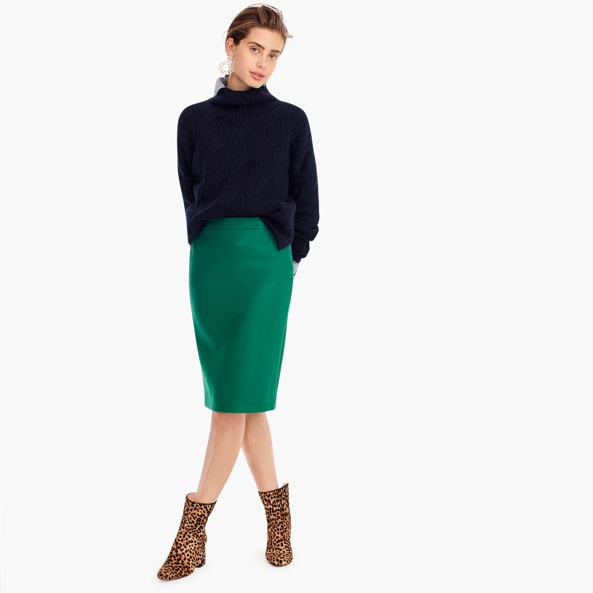 Image 1 for No. 2 pencil skirt in double-serge wool