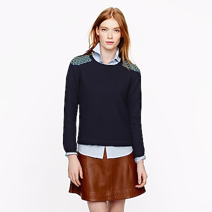 Collection beaded wool top