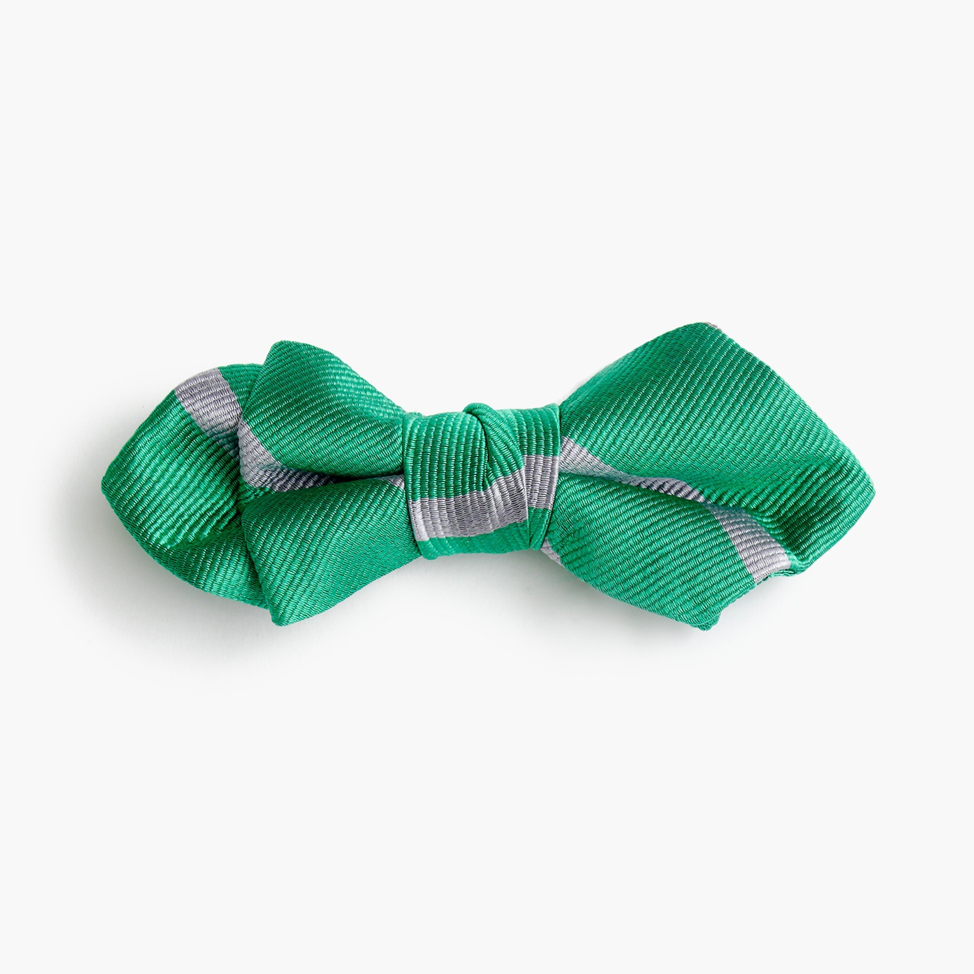 boys' silk bow tie in emerald stripe : boys' ties