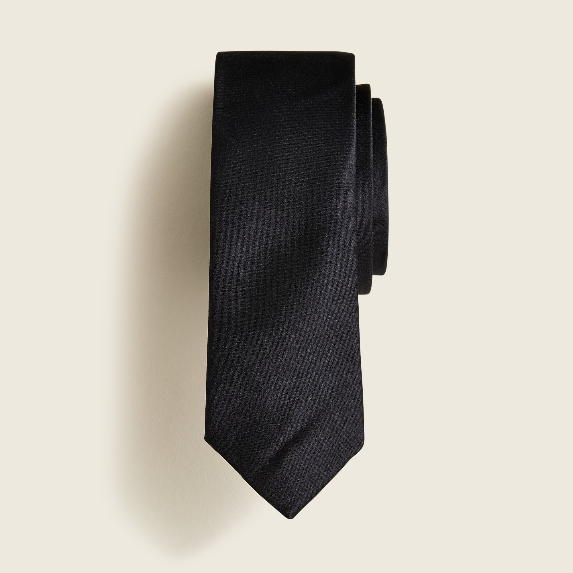 Boys' silk tie in black