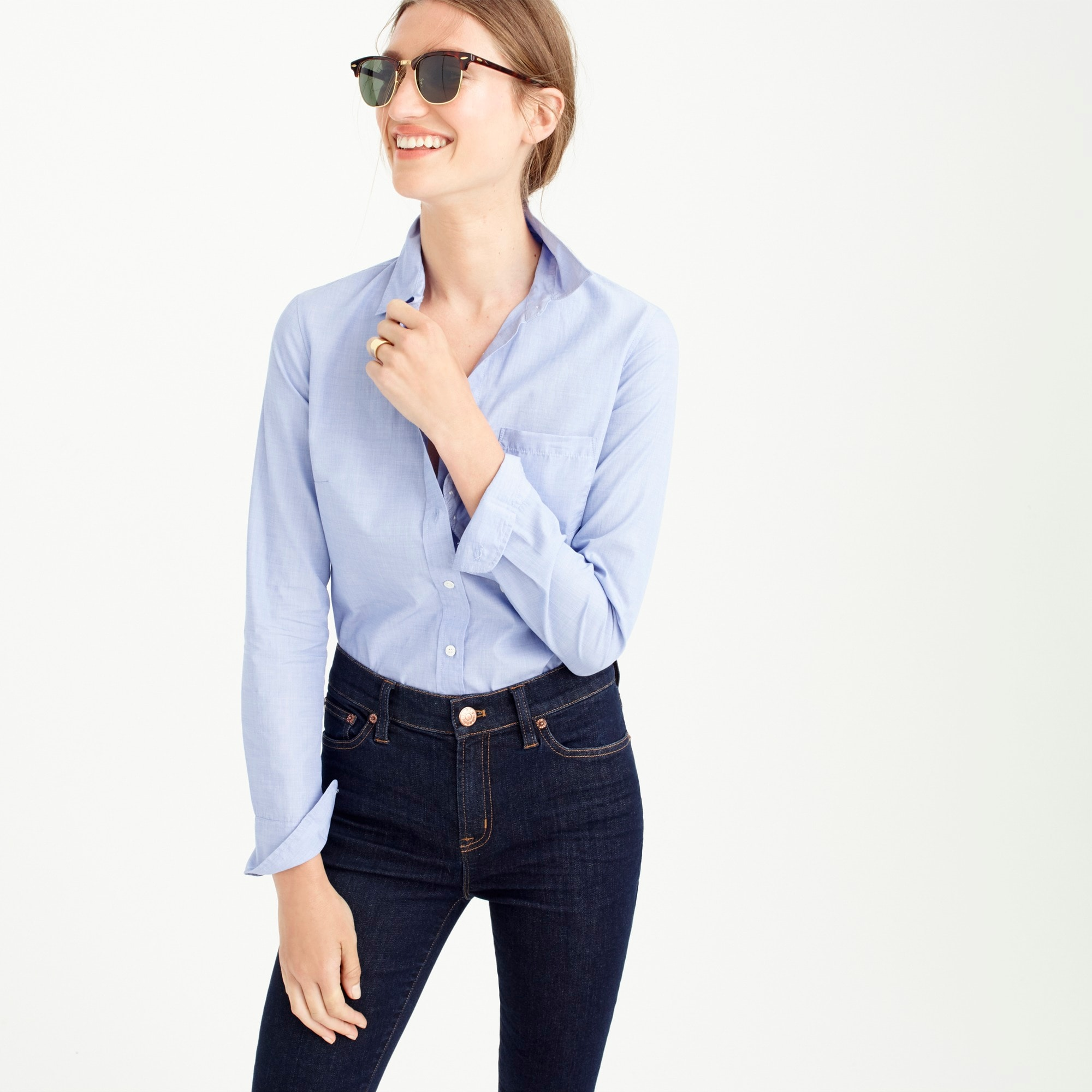 Image 1 for Tall everyday shirt in end-on-end cotton