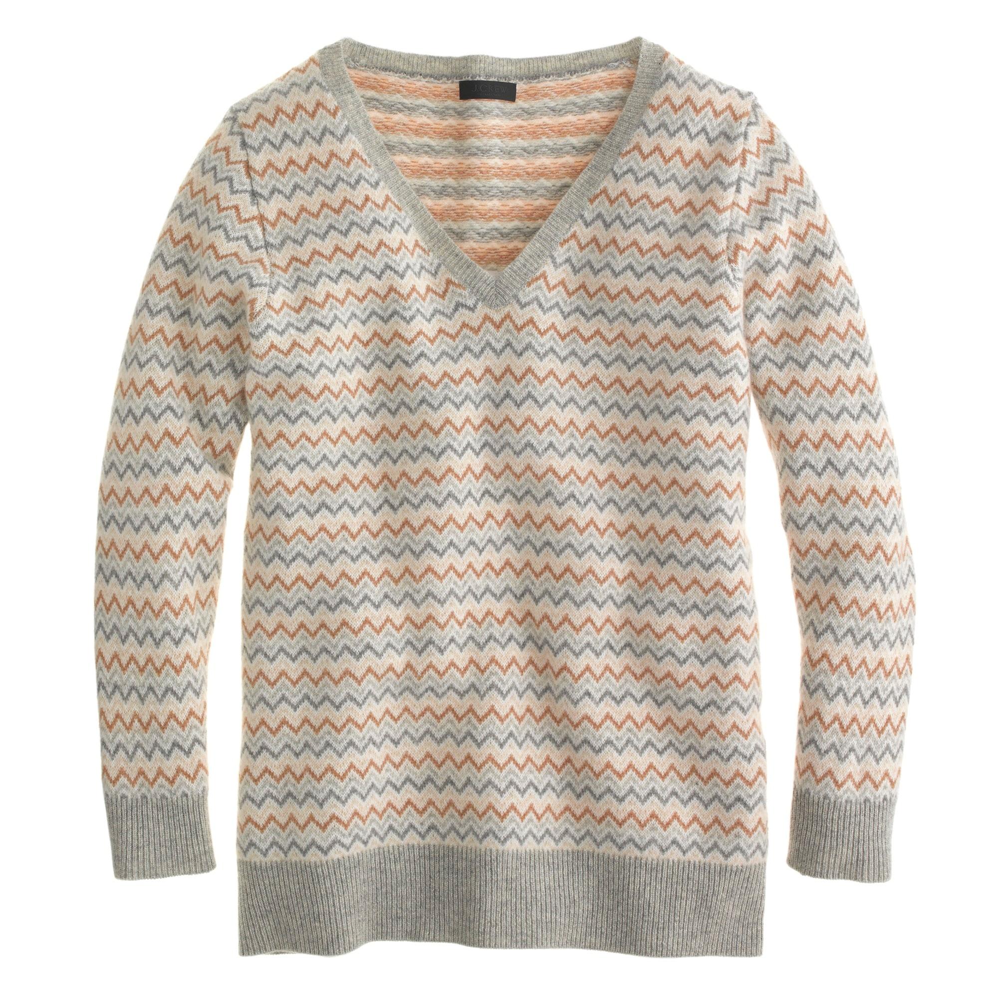 Collection cashmere chevron sweater