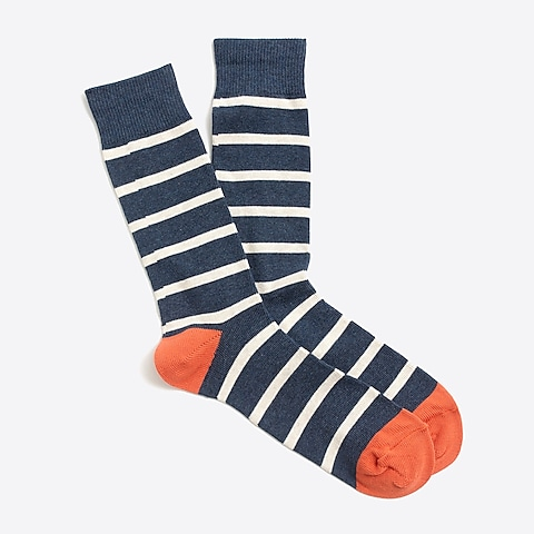 factory mens Tipped-stripe socks