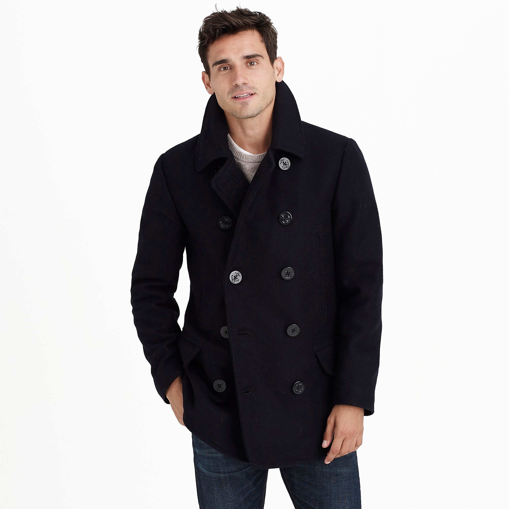 Tall dock peacoat with Thinsulate® : Men tall shop | J.Crew