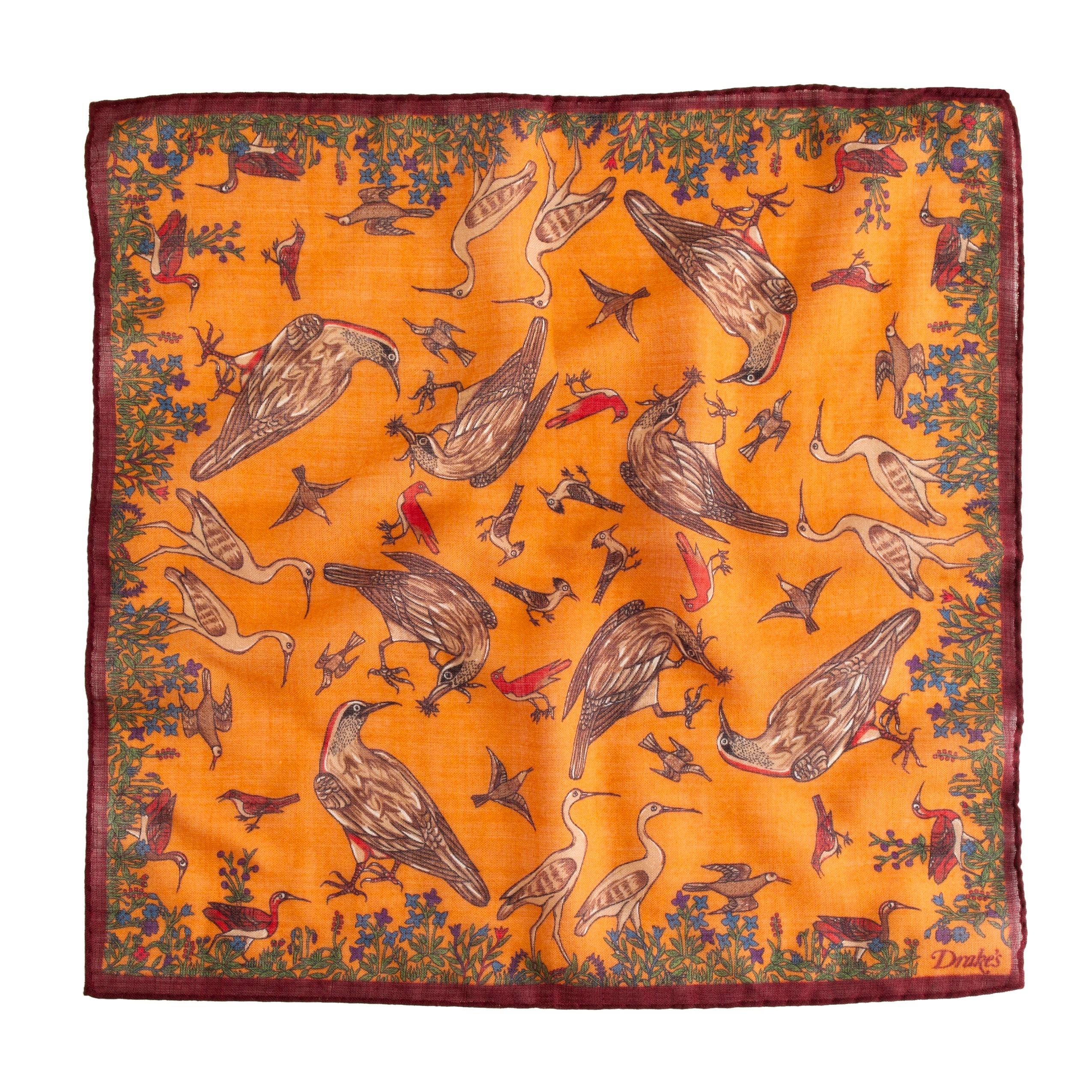 Drake's® bird-print handkerchief