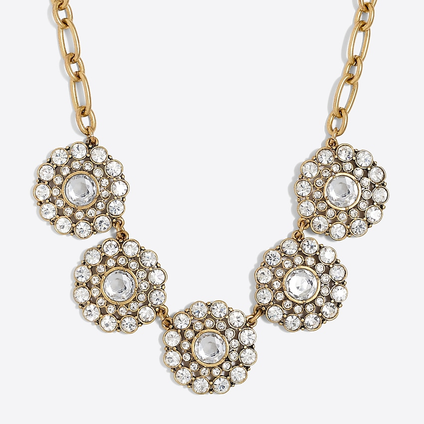 j.crew factory: layered circle necklace for women, right side, view zoomed