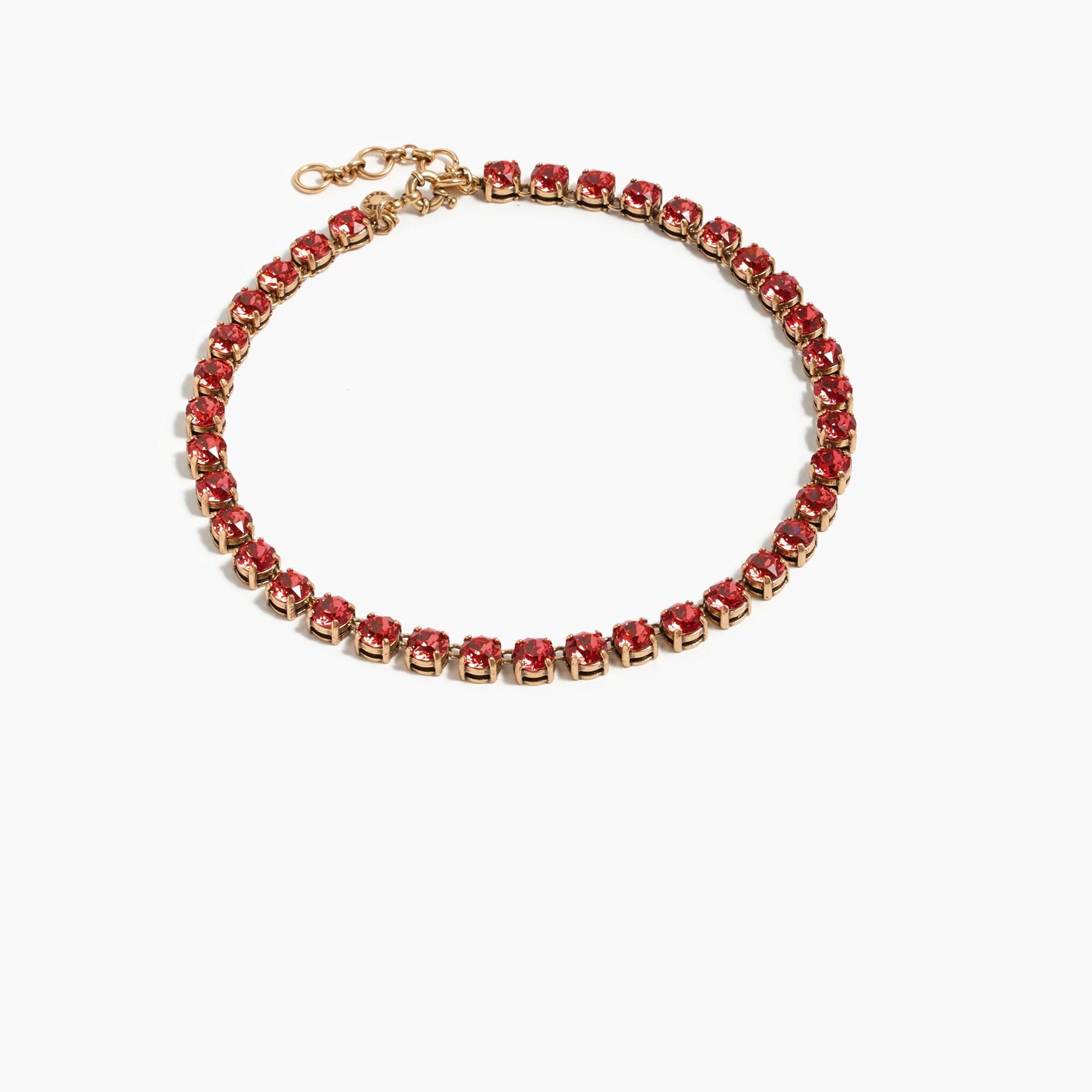 swarovski crystal dot necklace - women's jewelry