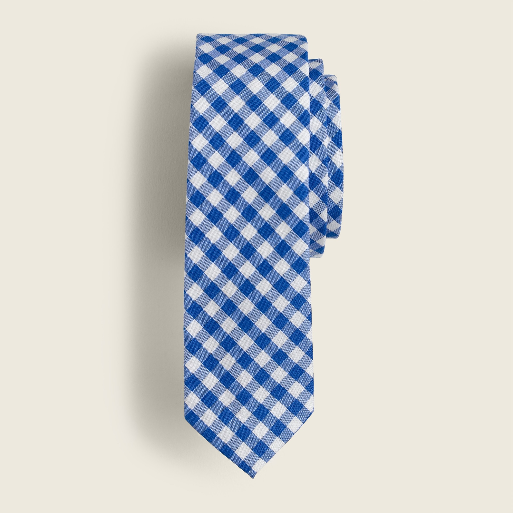 boys' tie in baltic blue gingham - boys' accessories