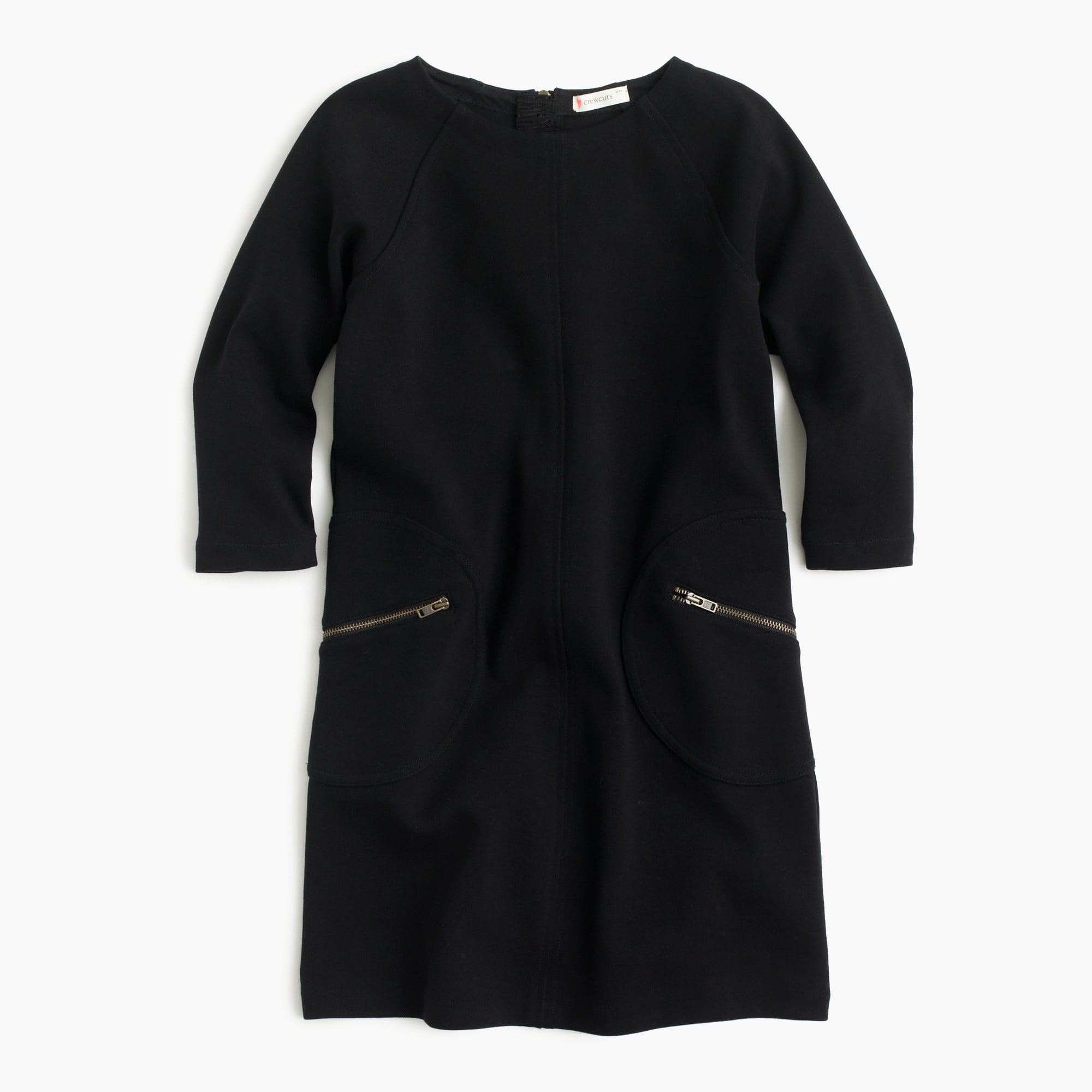 Girls' shift dress with zippers