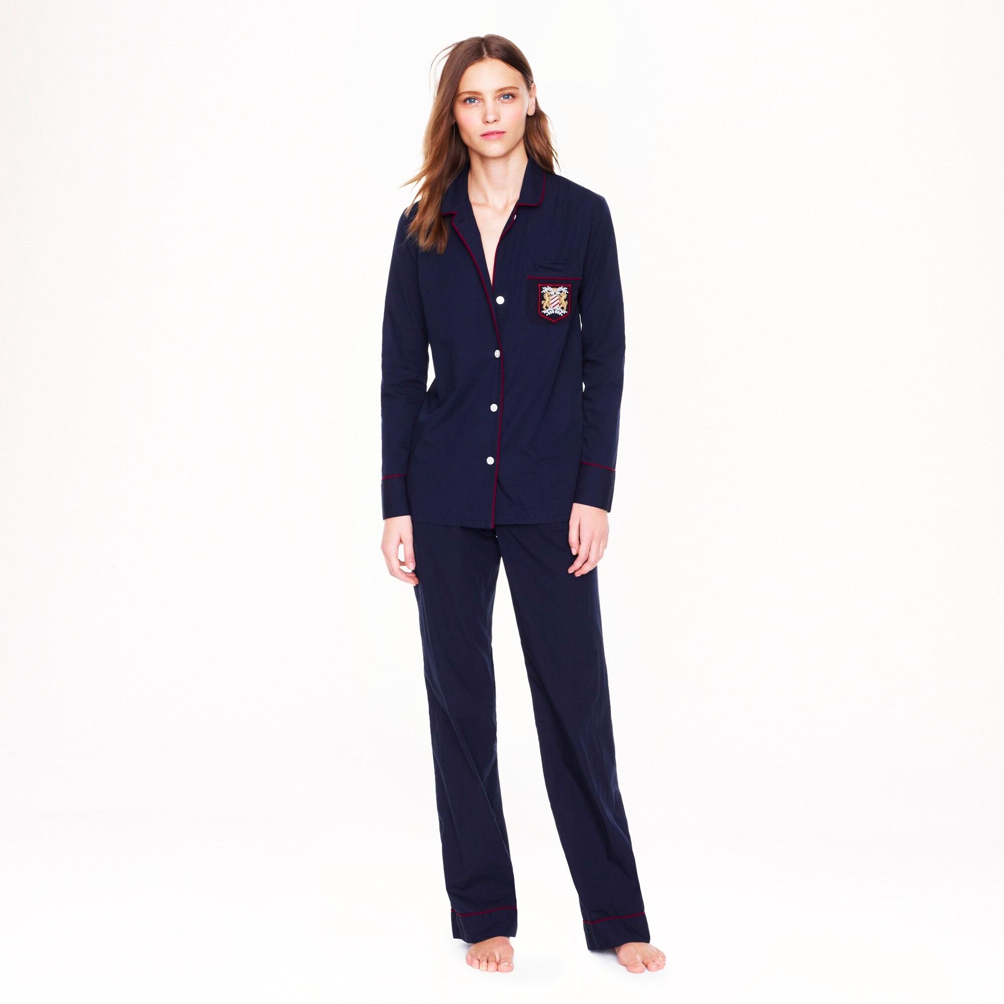 pajama set with pocket crest :