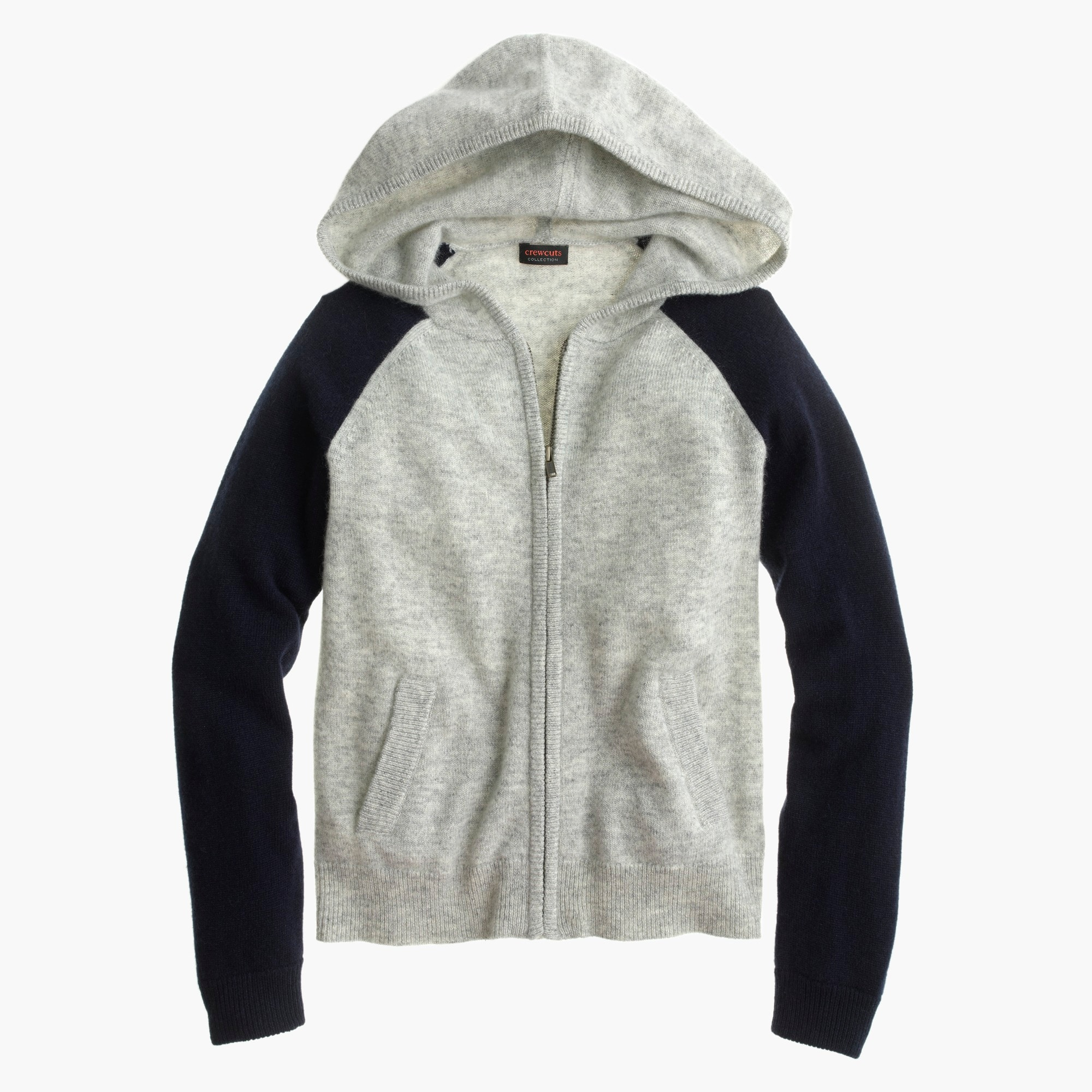 Image 1 for Girls' colorblock cashmere hoodie