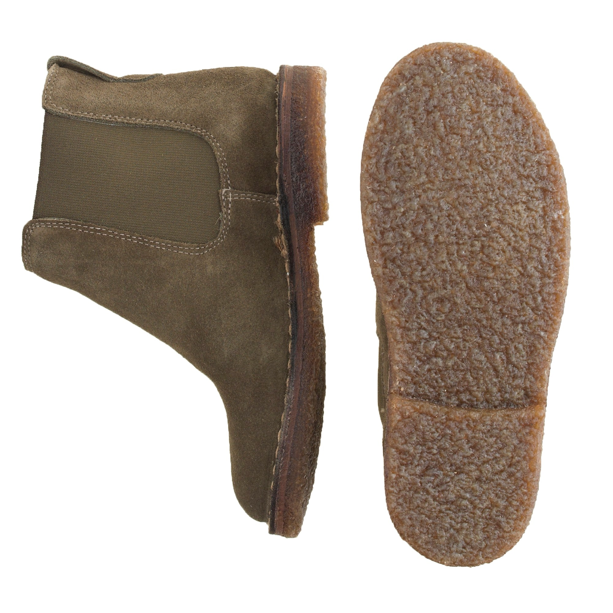 Image 2 for Boys' suede shearling-lined Chelsea boots