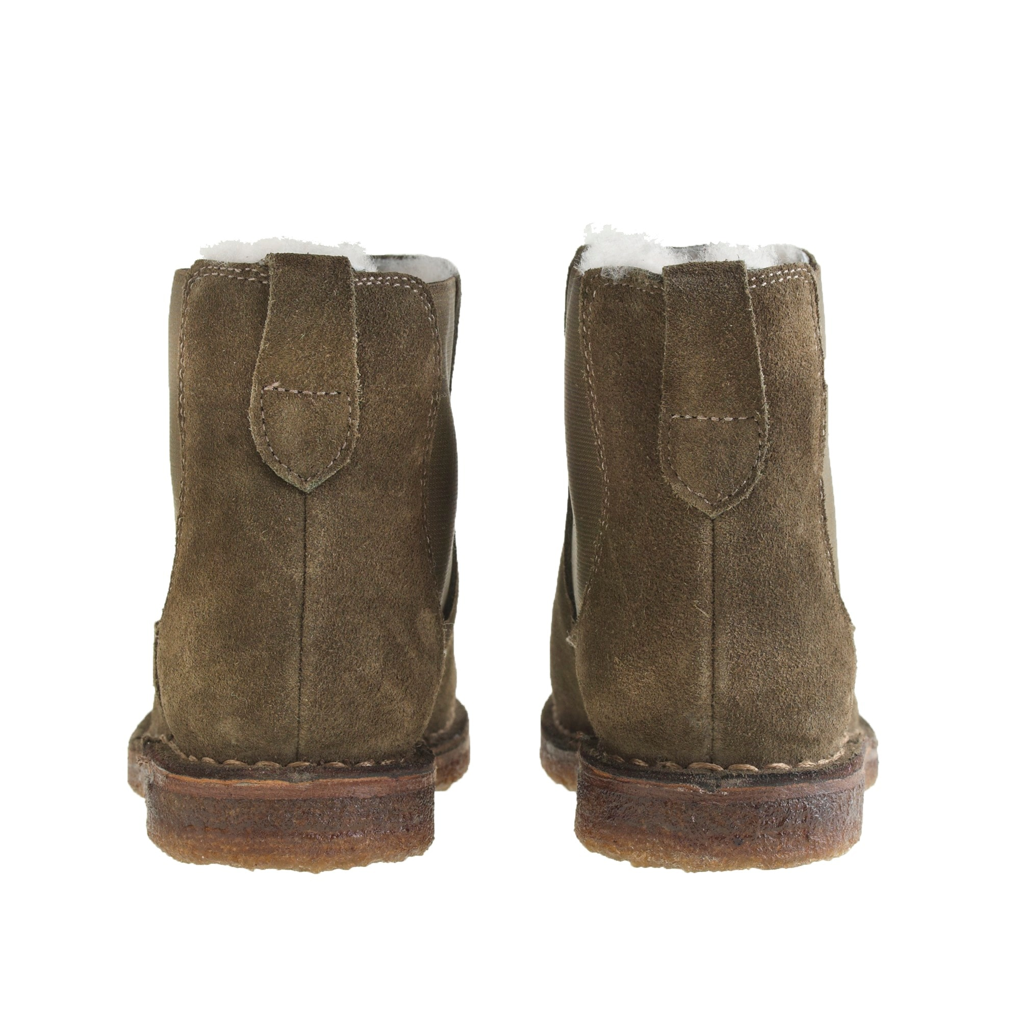 Image 3 for Boys' suede shearling-lined Chelsea boots