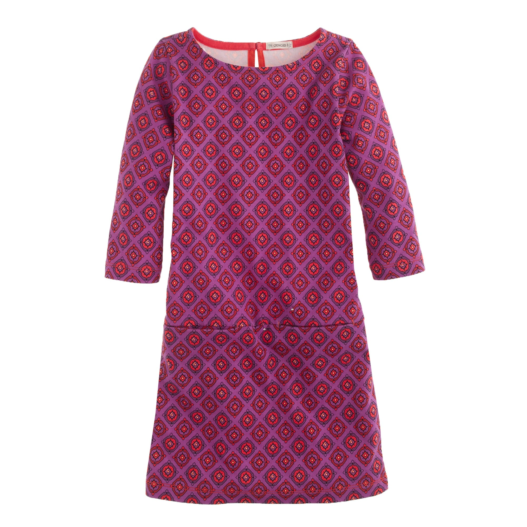 girls' jules dress in bright fuchsia foulard :