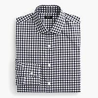 Tall Ludlow Slim-fit spread-collar shirt in navy gingham