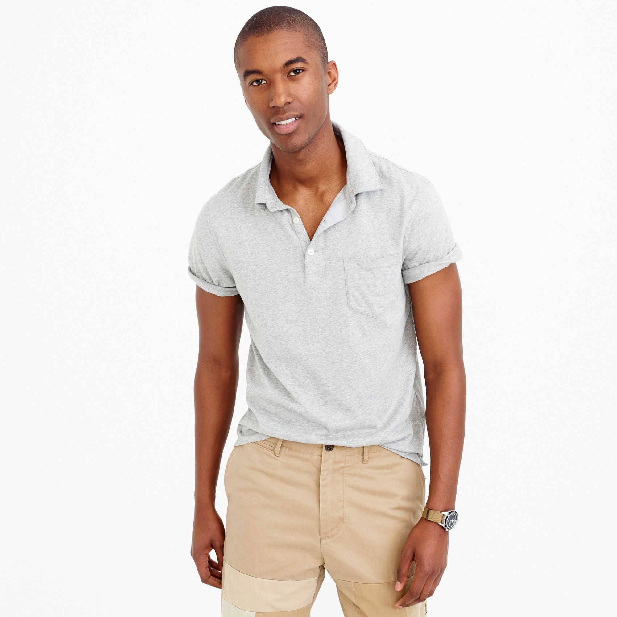 men's broken-in pocket polo shirt - men's knits