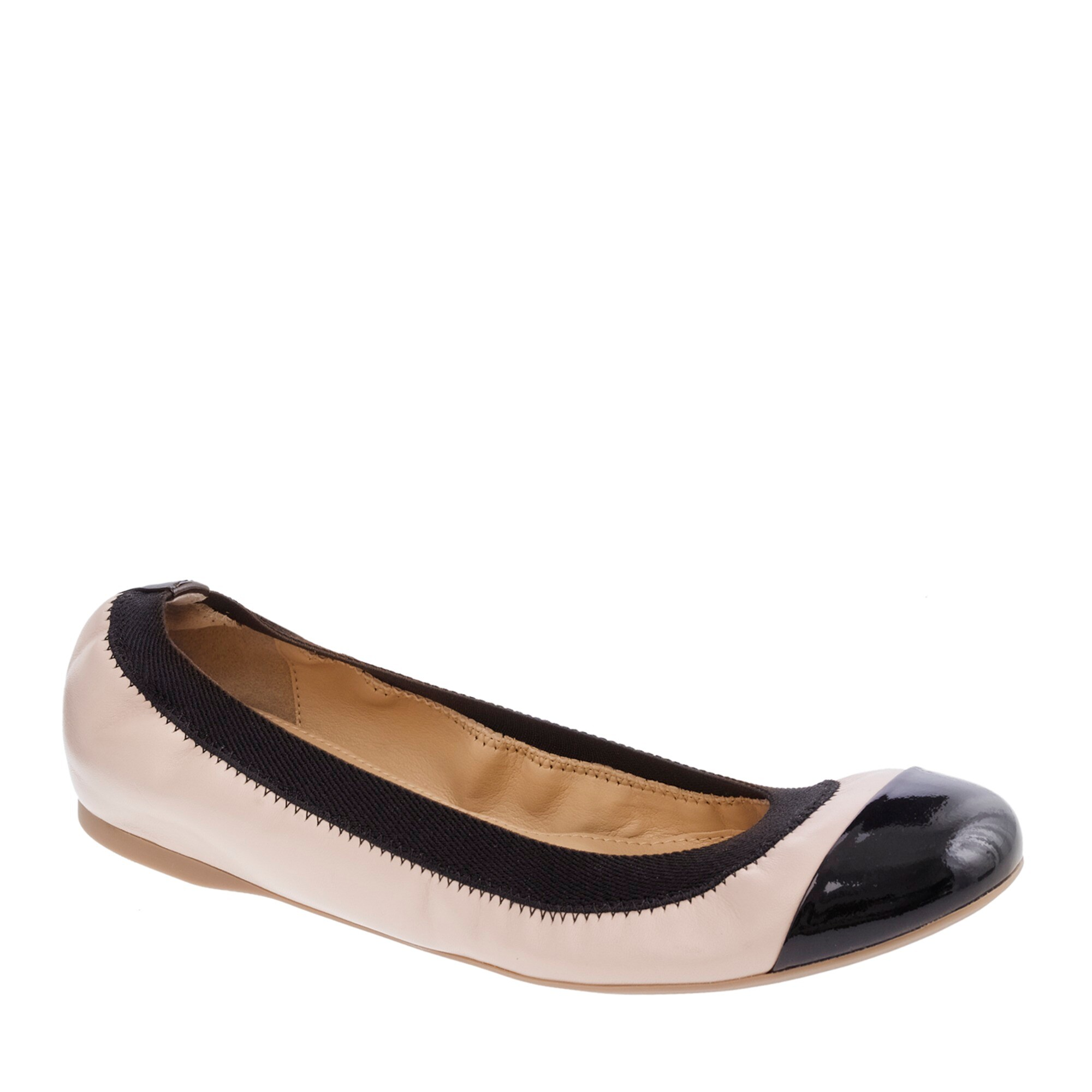 Image 1 for Mila cap toe leather ballet flats
