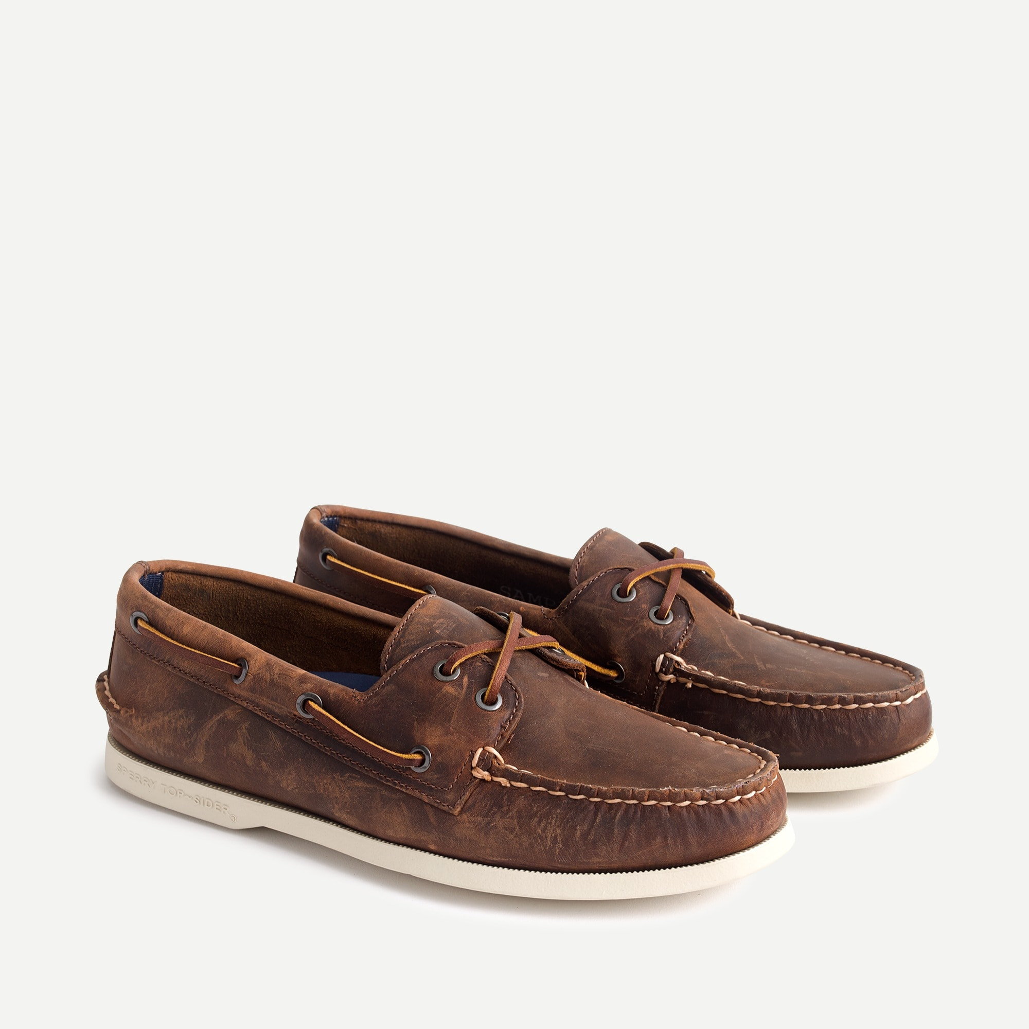 mens Sperry® for J.Crew Authentic Original 2-eye broken-in boat shoes