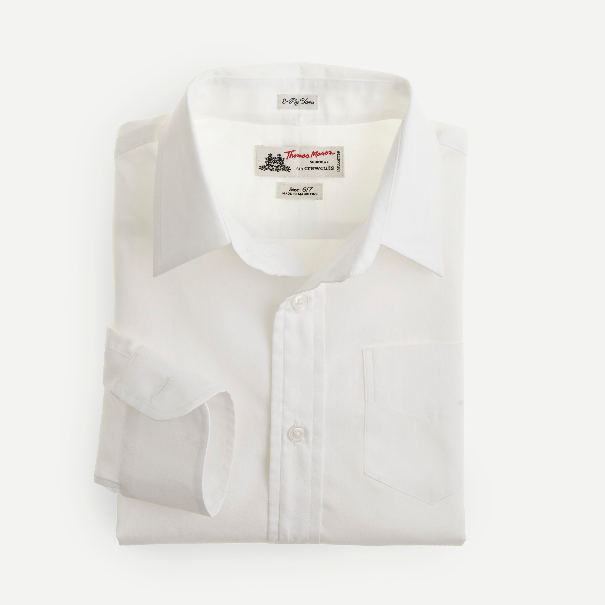 Boys' Thomas Mason® for crewcuts Ludlow shirt in white boy j.crew in good company c