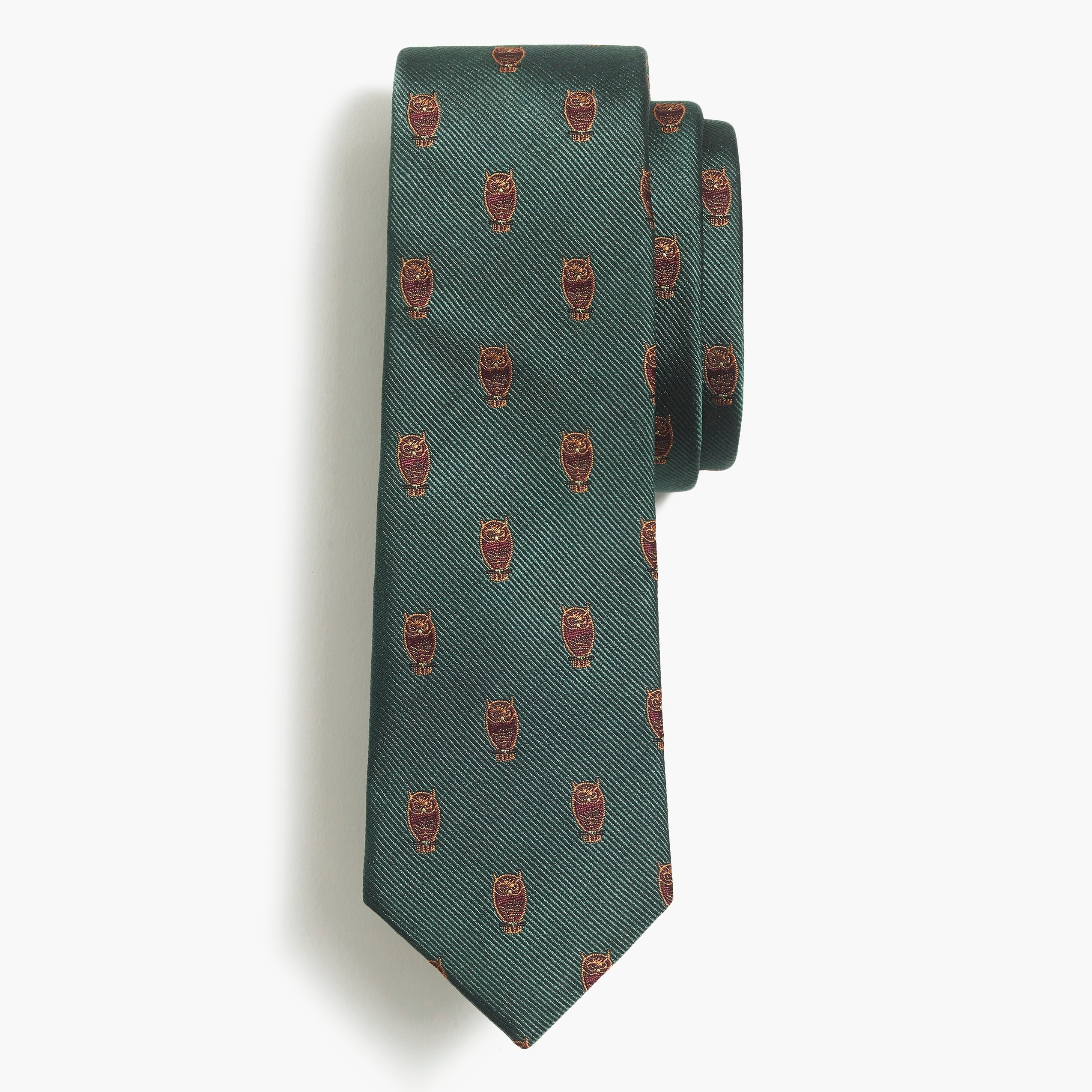 men's embroidered silk owl tie - men's ties