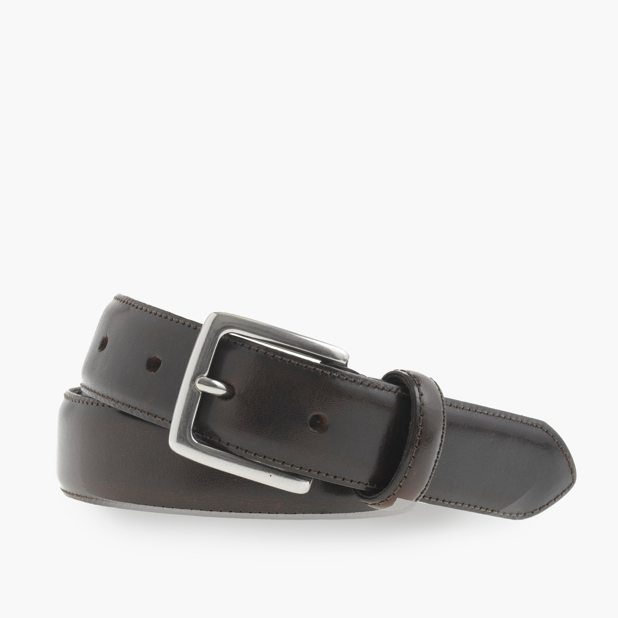 Stitched-edge belt men accessories c