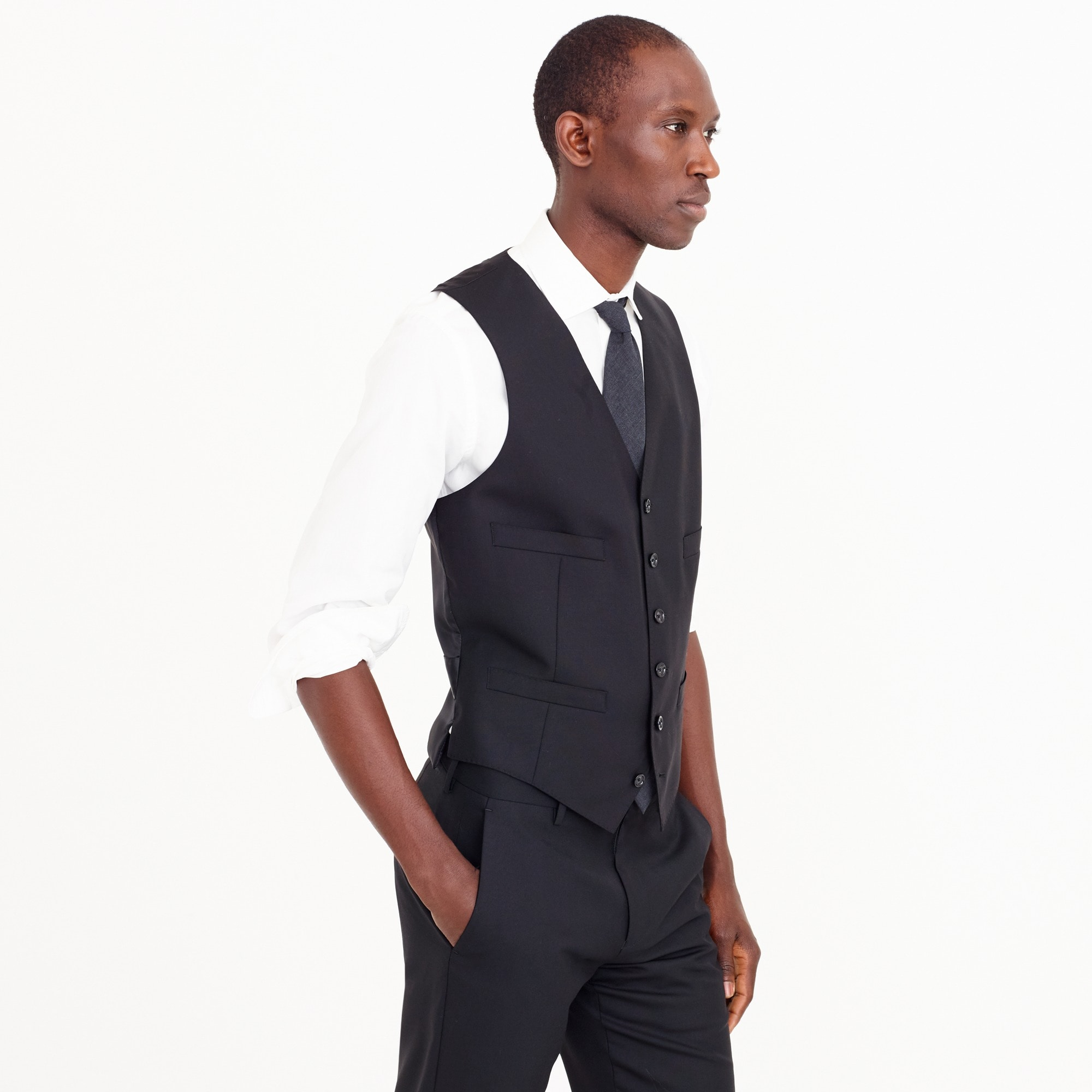 Ludlow suit vest in Italian wool