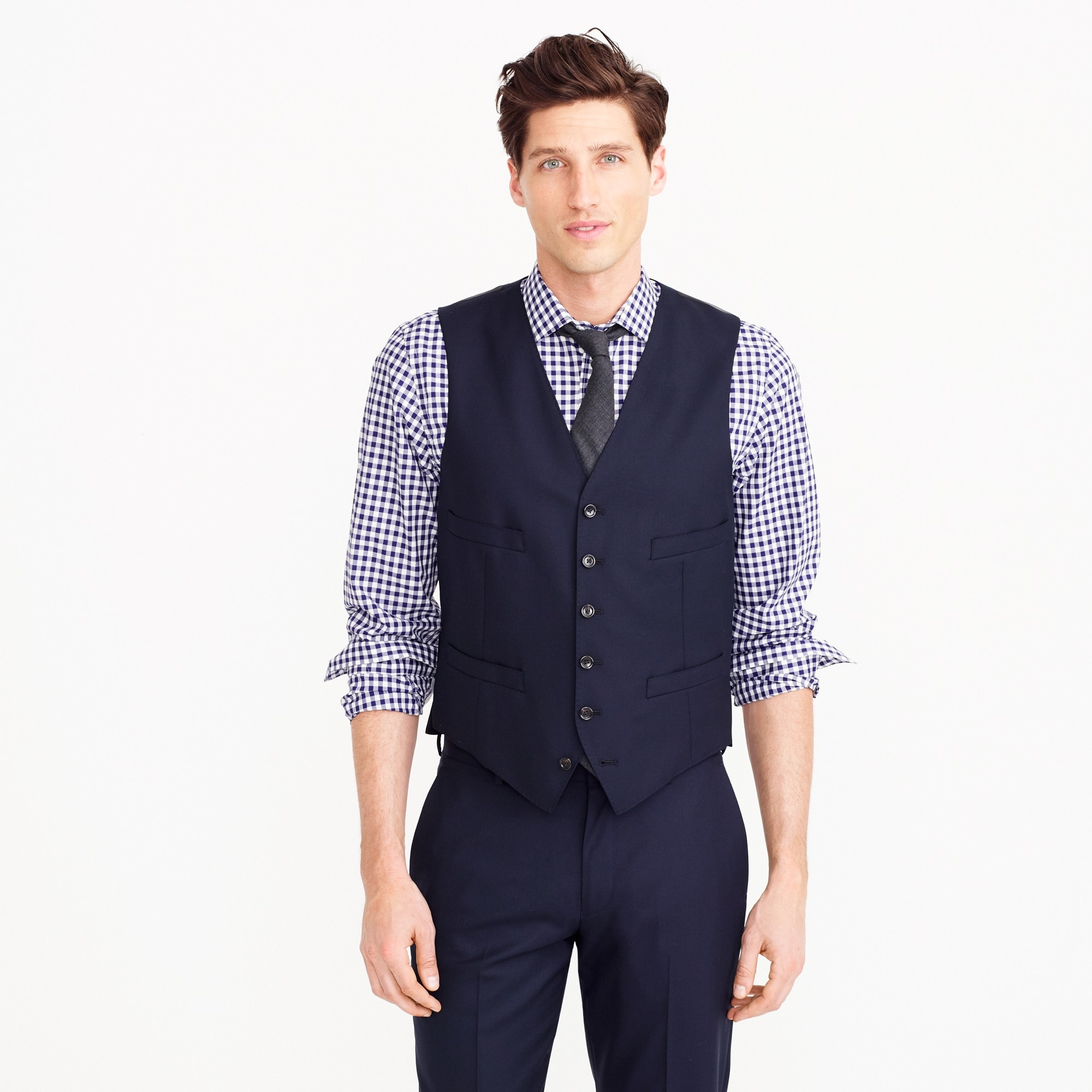 mens Ludlow suit vest in Italian wool