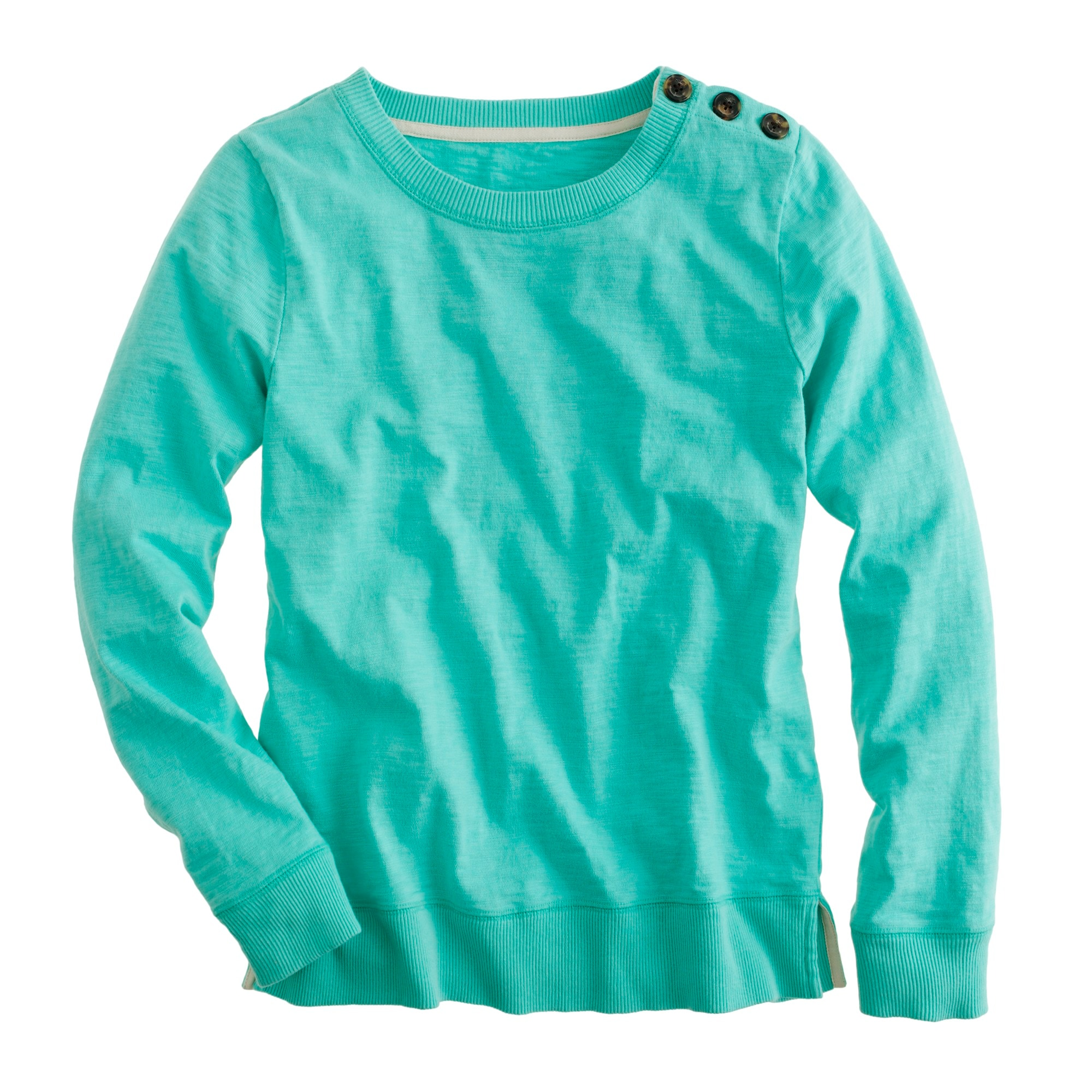 Tortoise-button sweatshirt