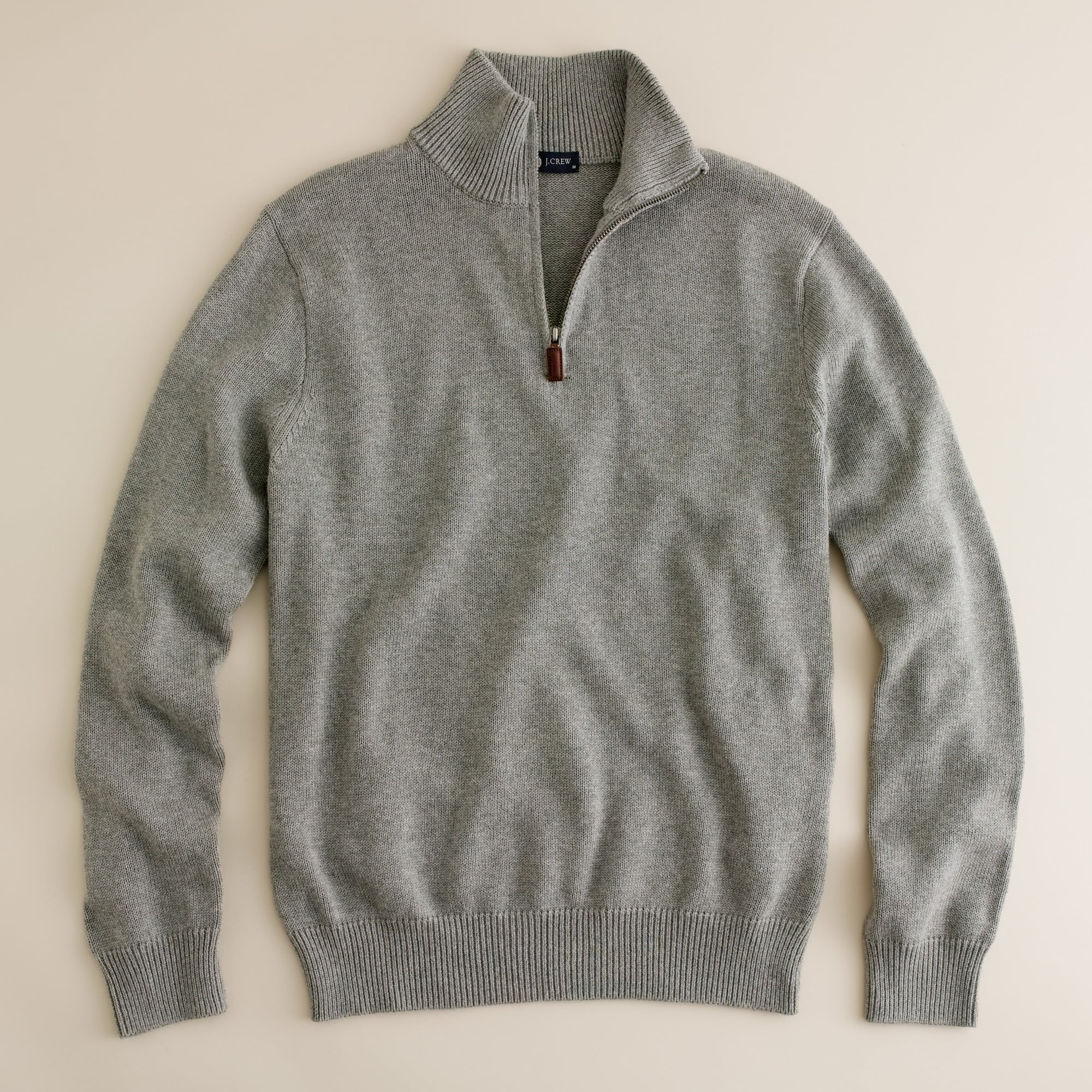men's tall cotton-cashmere half-zip sweater - men's sweaters