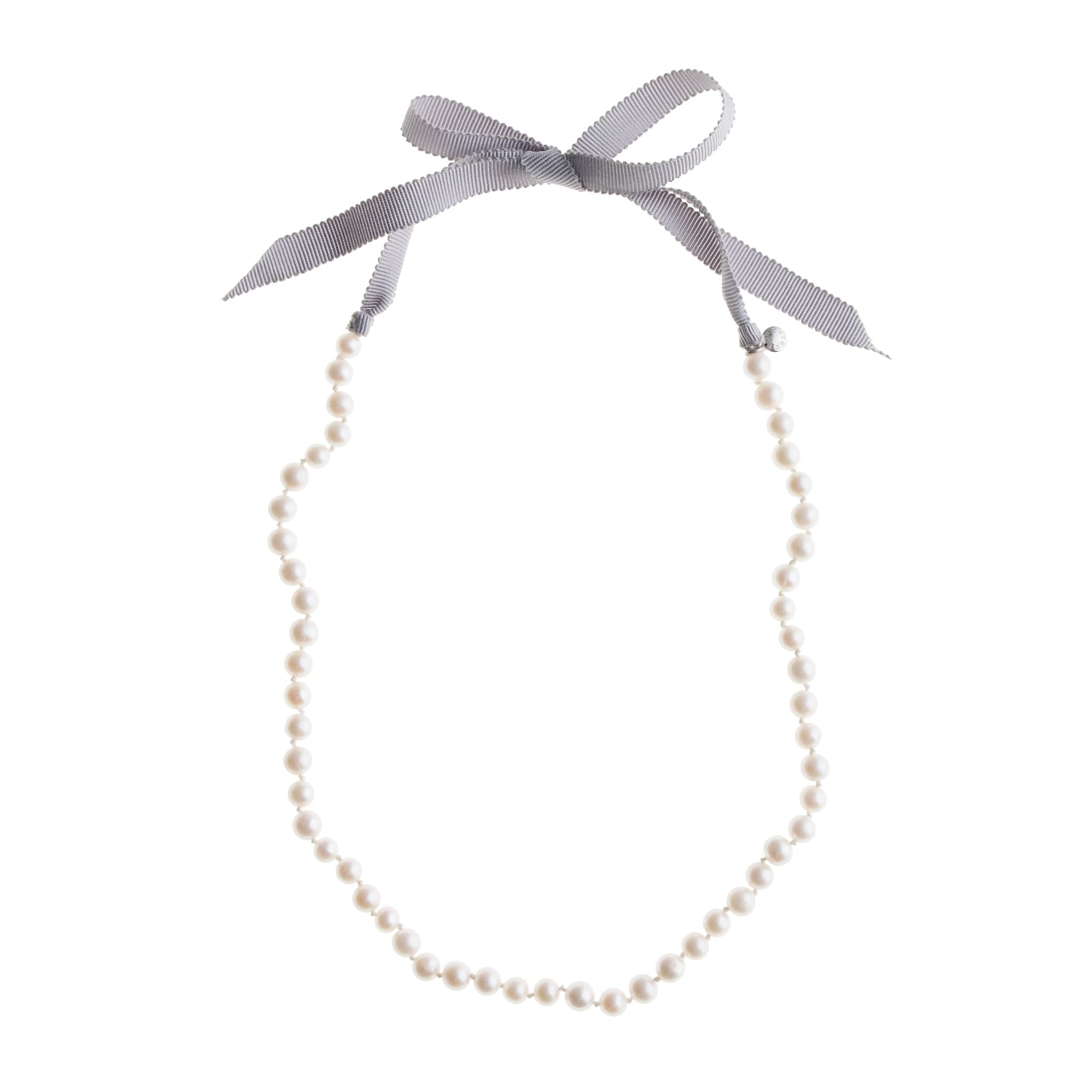 Girls' ribbon-tied long pearl necklace girl jewelry & accessories c