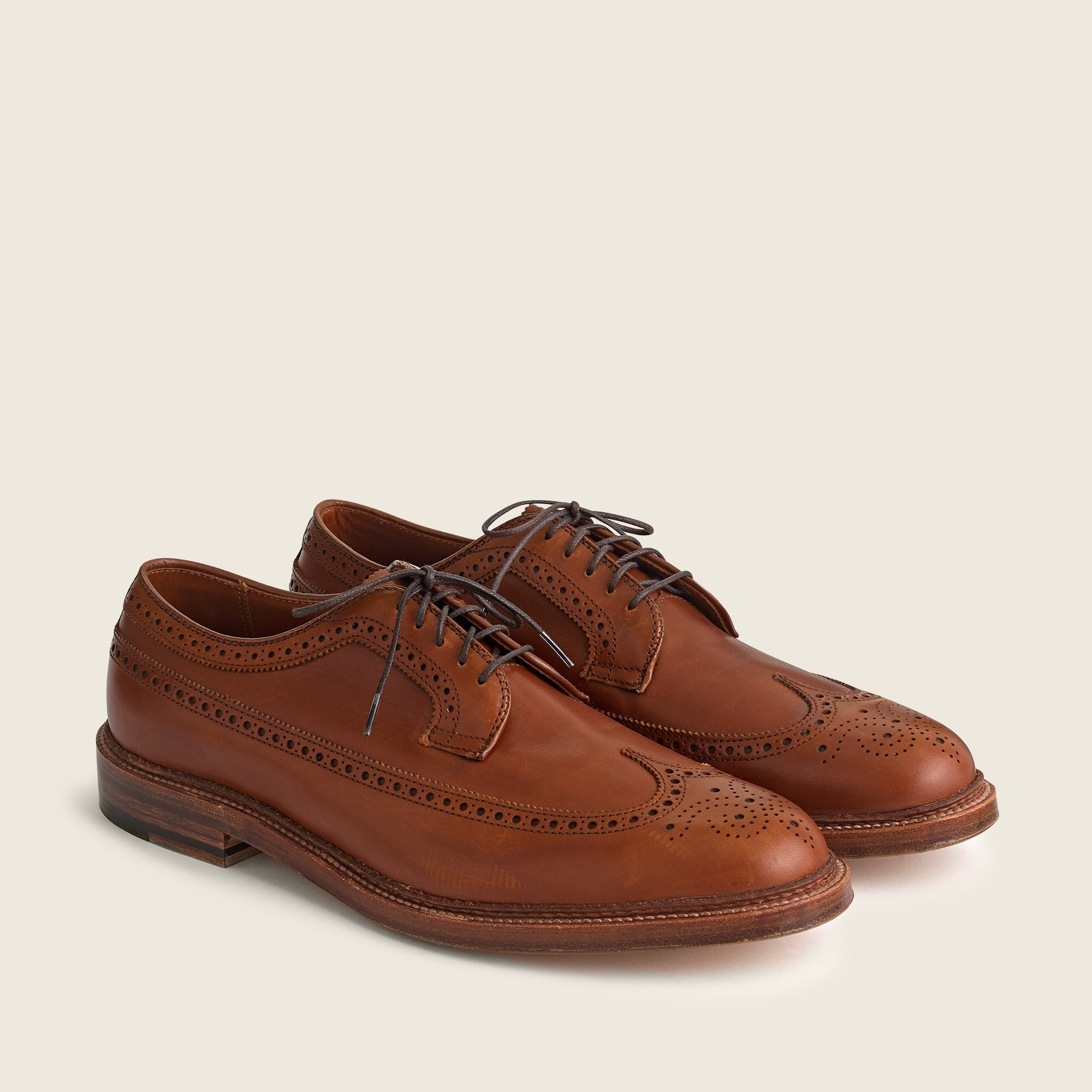 mens Alden® for J.Crew longwing bluchers in tobacco