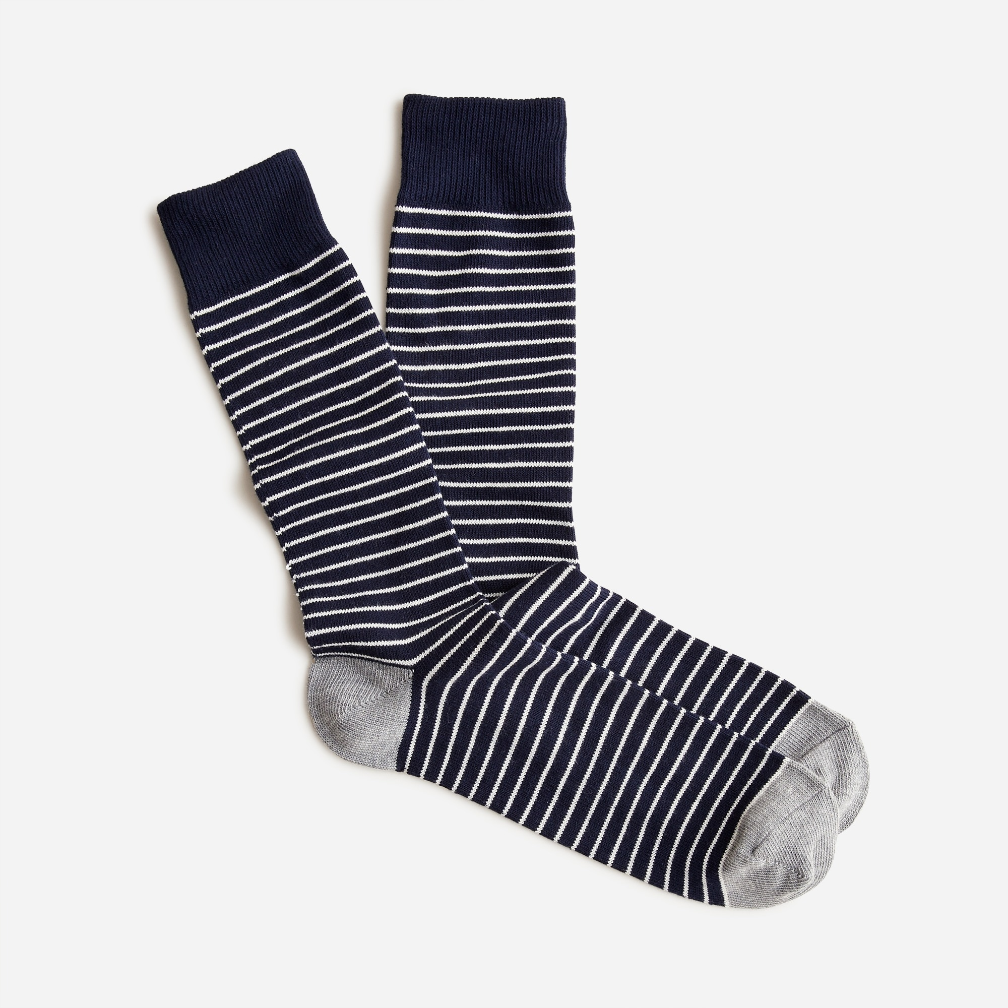 Tipped microstriped socks men socks c