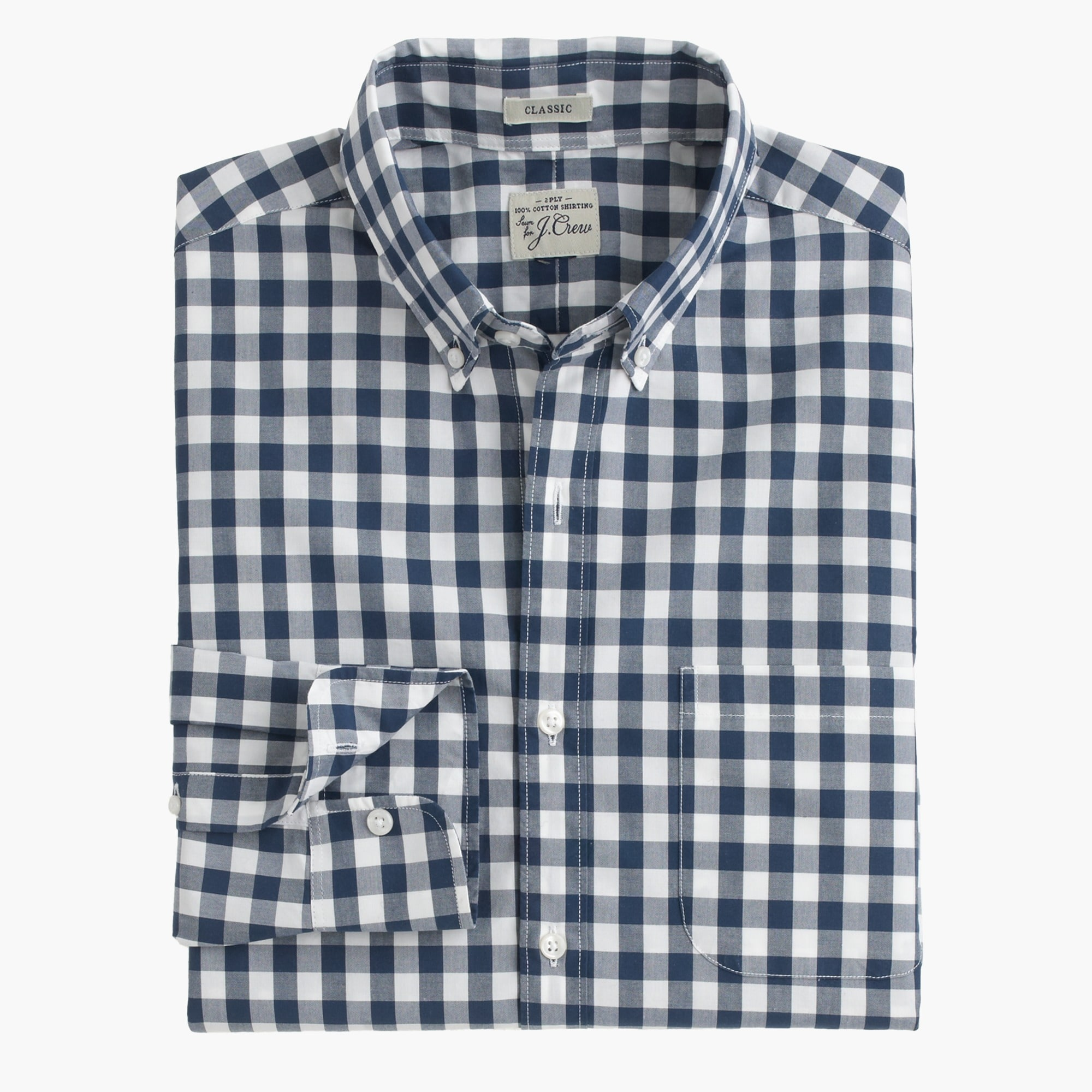 Slim Secret Wash shirt in faded gingham men slim shop c