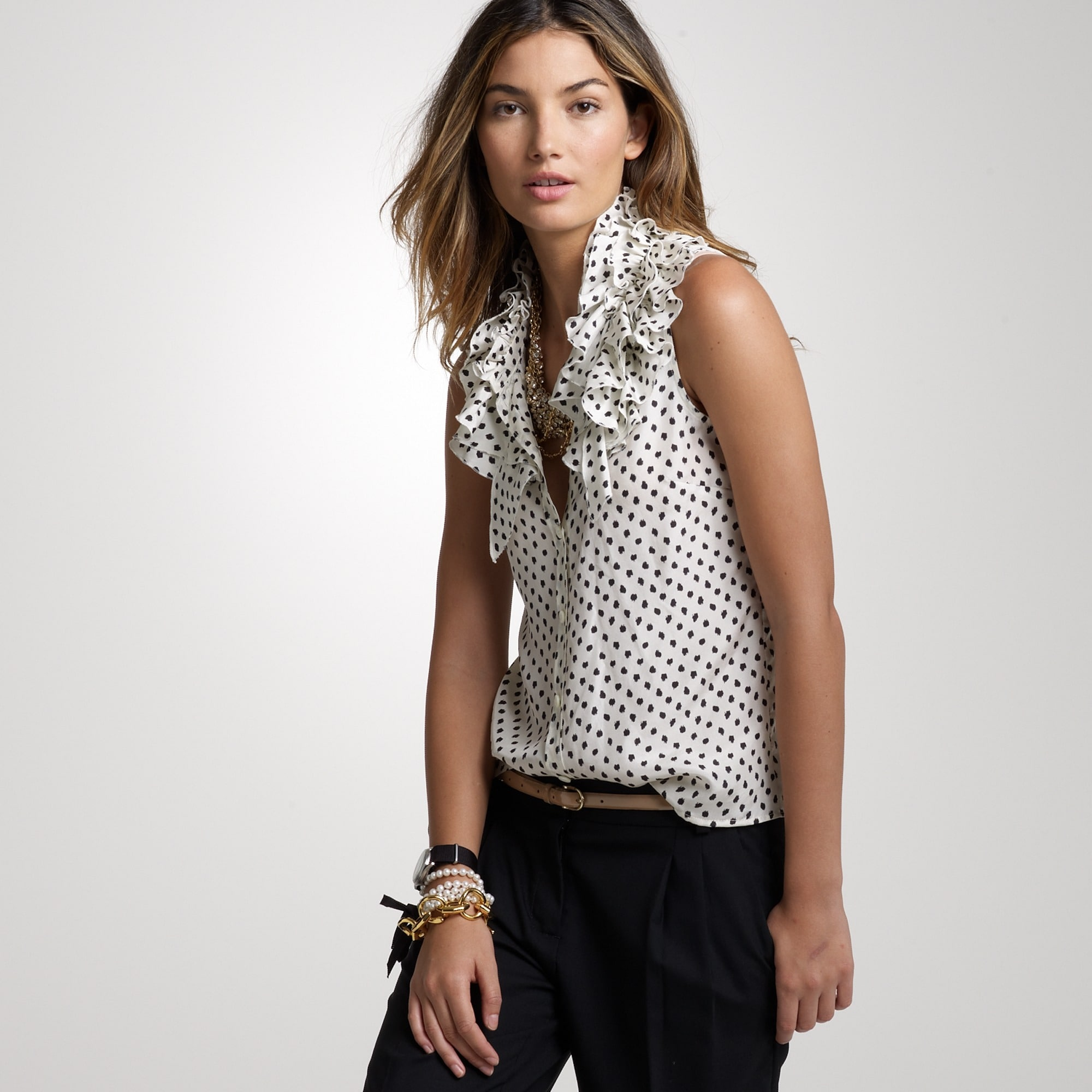 printed kelsey ruffle top :