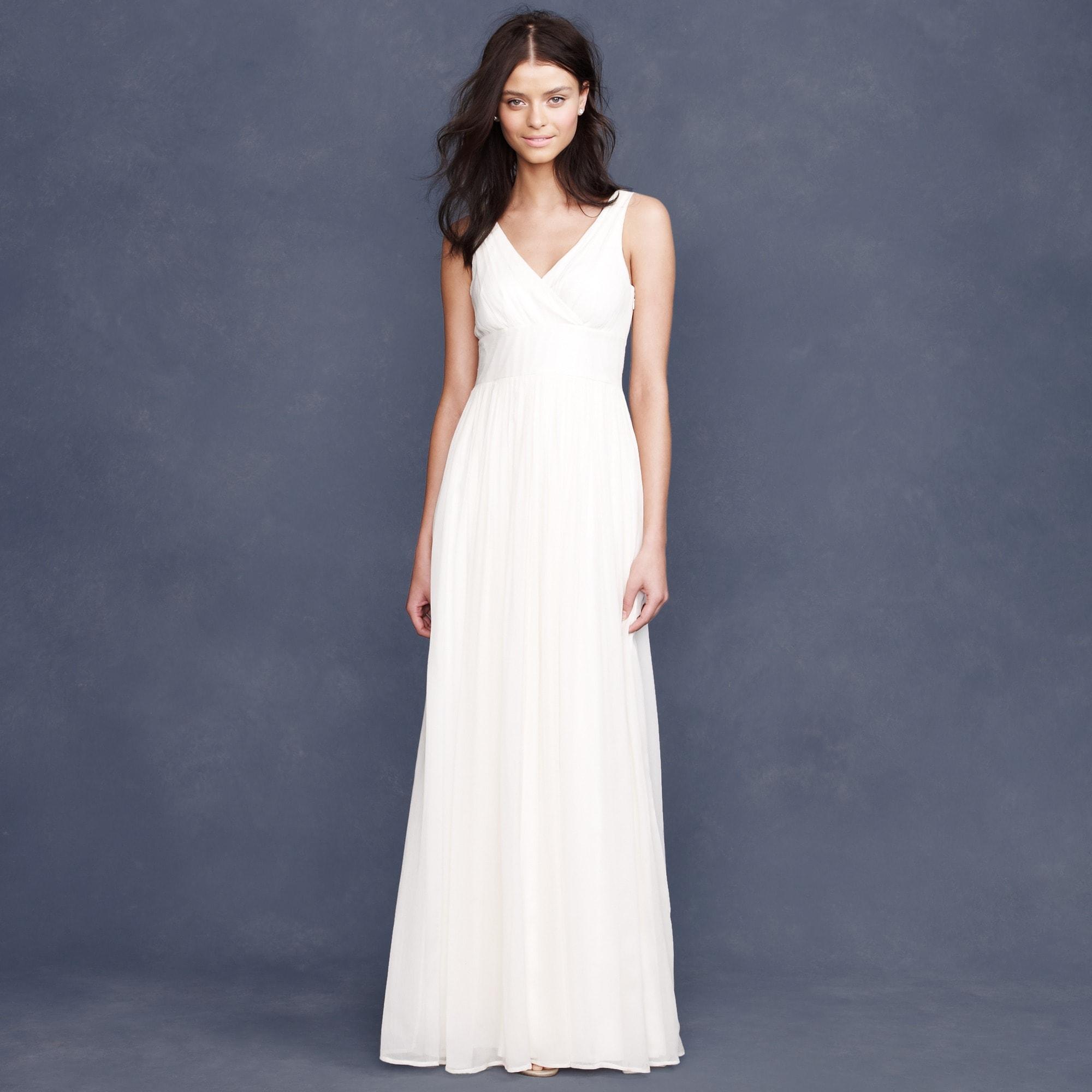 sophia gown in silk chiffon : women dresses & jumpsuits