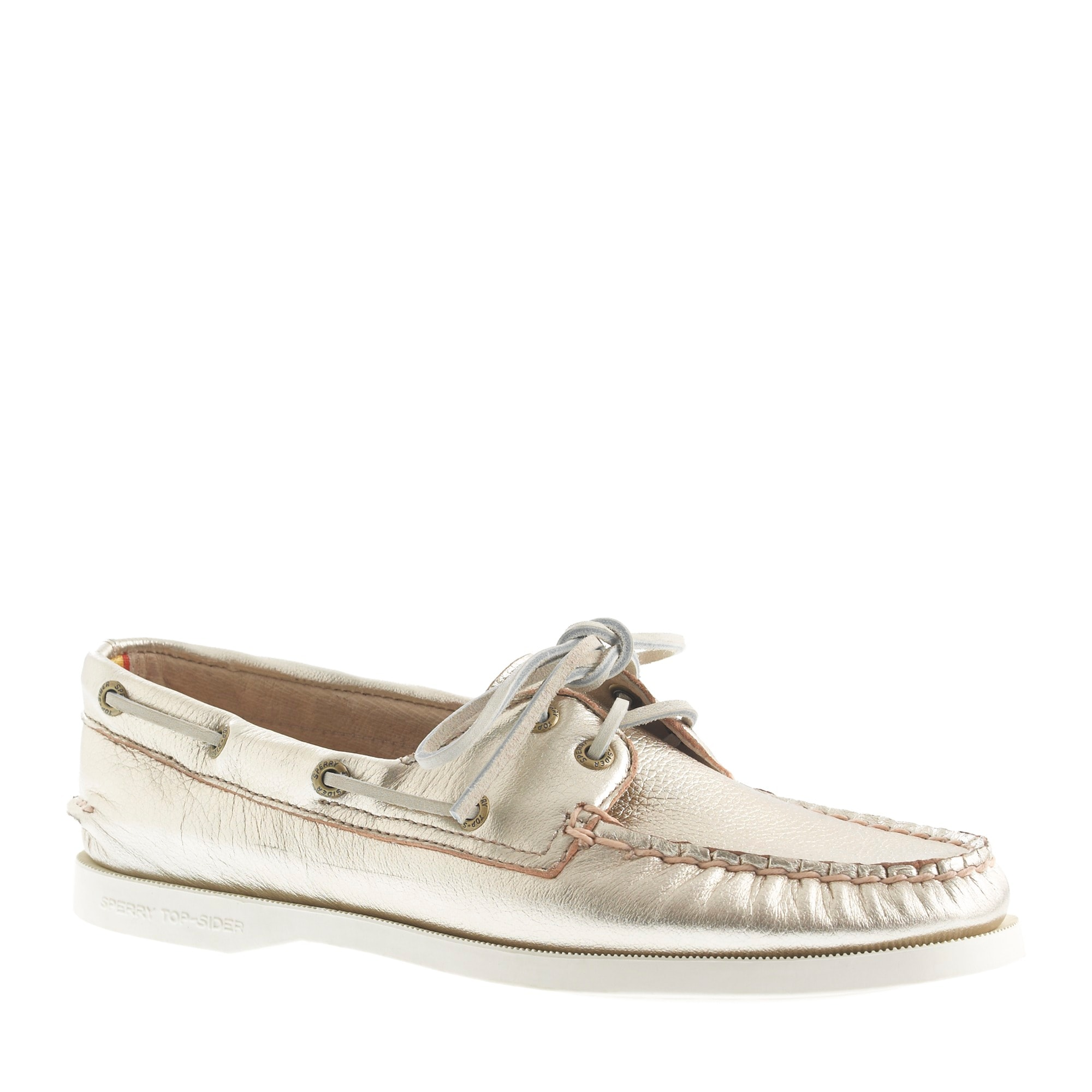sperry top-sider® for j.crew authentic original 2-eye metallic boat shoes :