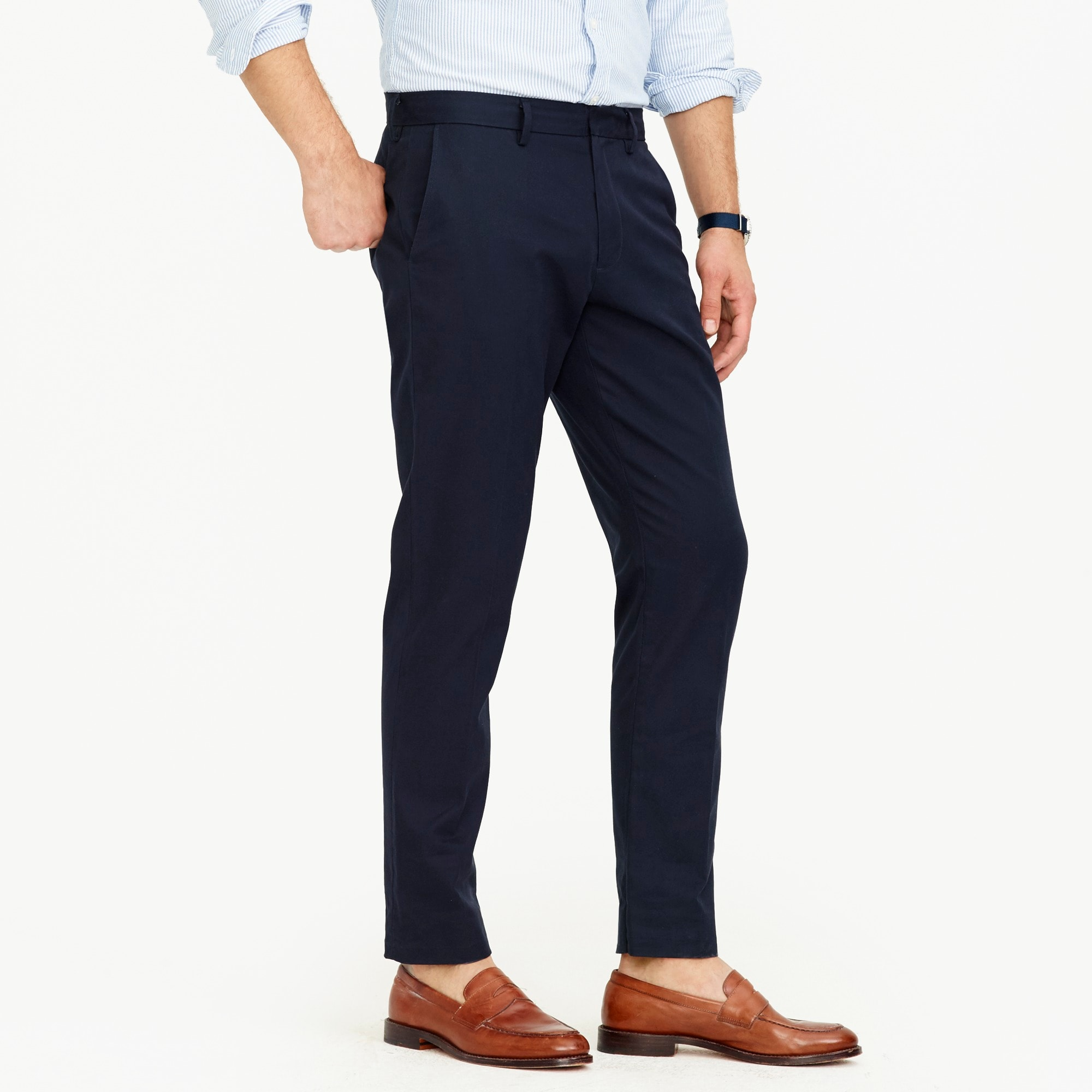 Bowery Slim-fit pant in cotton twill