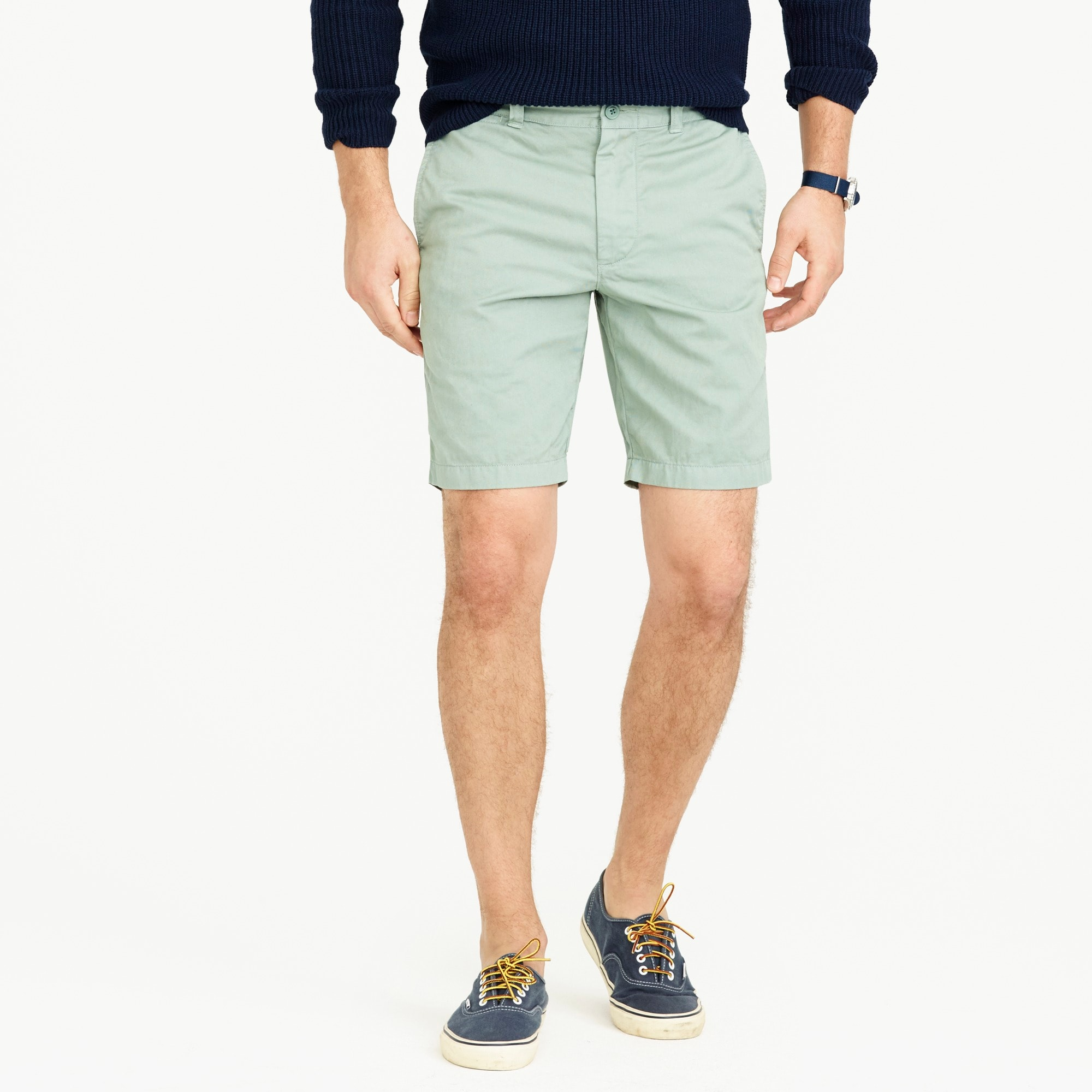 "9"" short in garment-dyed cotton : men's shorts"