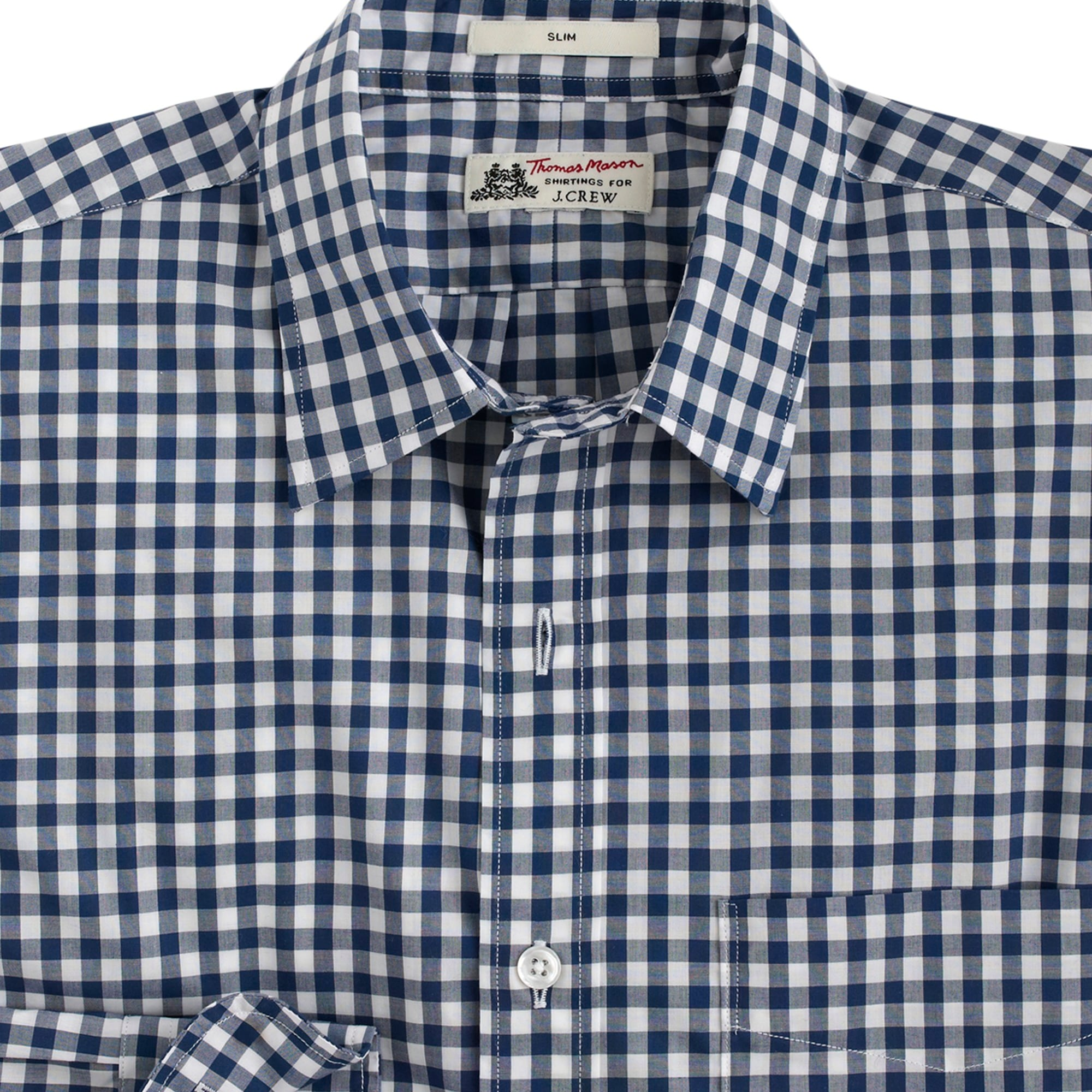 slim thomas mason for j.crew shirt in bedford blue gingham : men's shirts