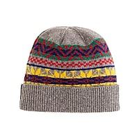 Lambswool bright Fair Isle hat