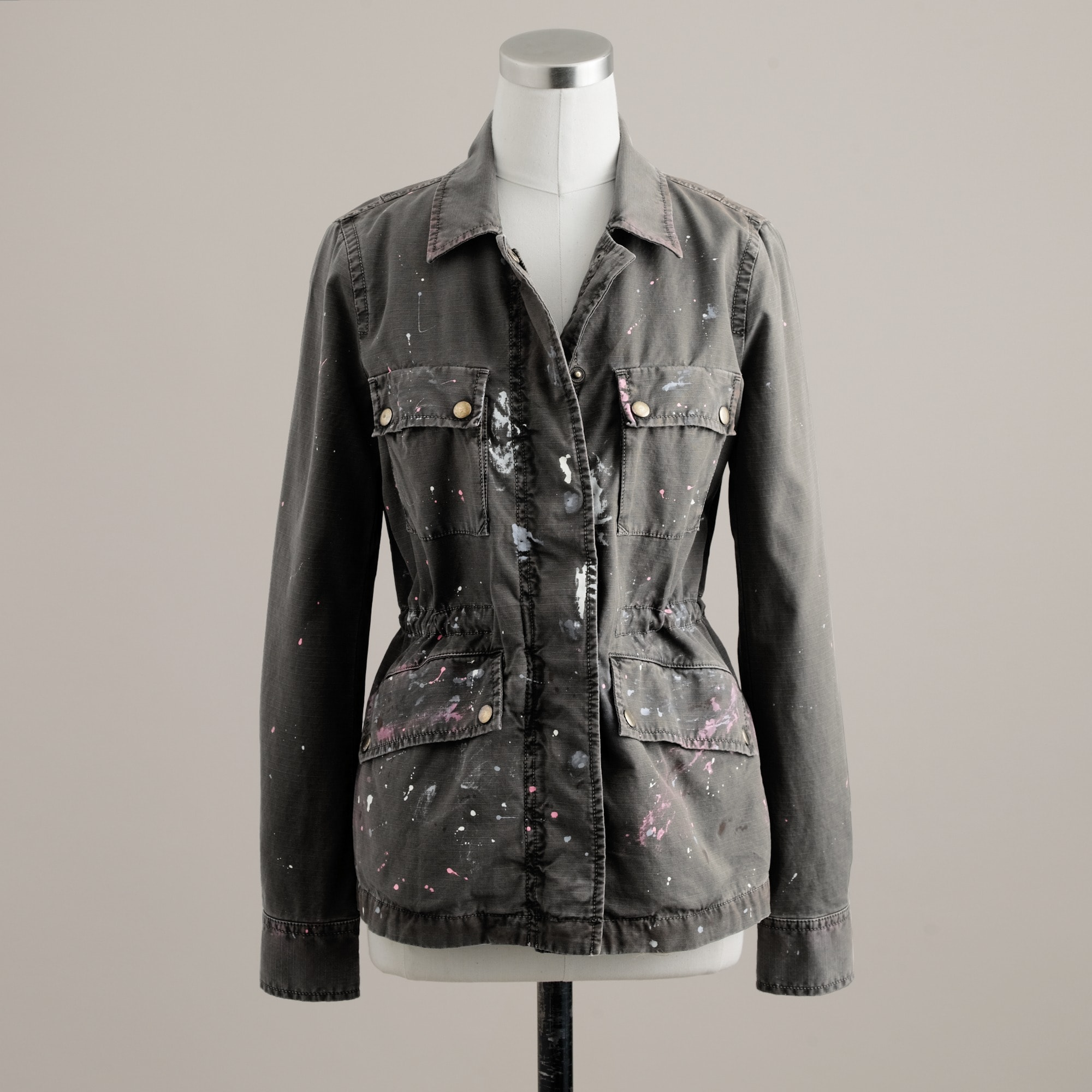 Hand-painted military jacket