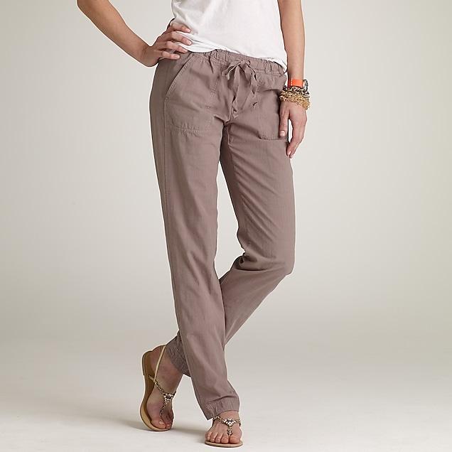 Crosshatch cotton Nora pant