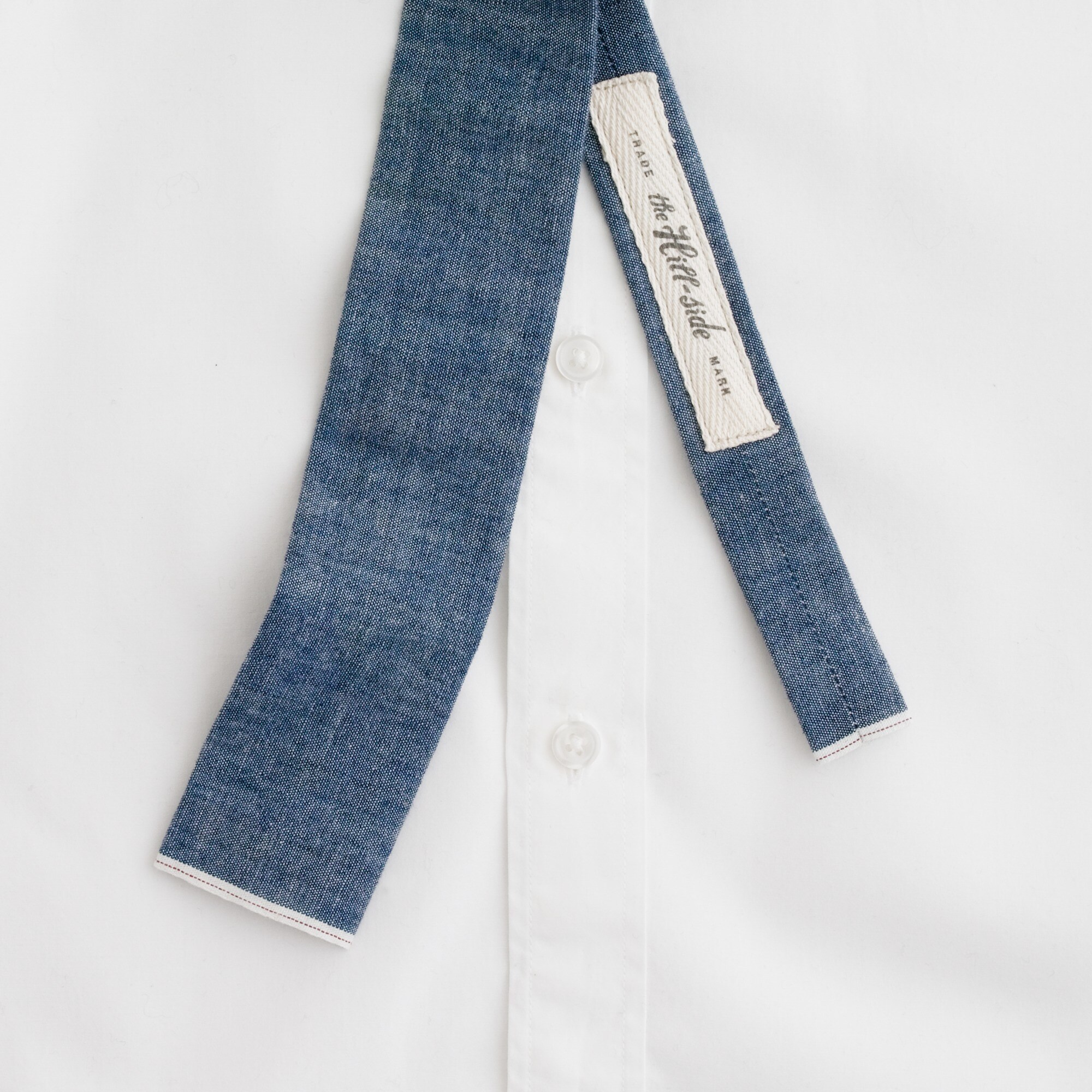 Image 3 for The Hill-side® Japanese selvedge chambray tie