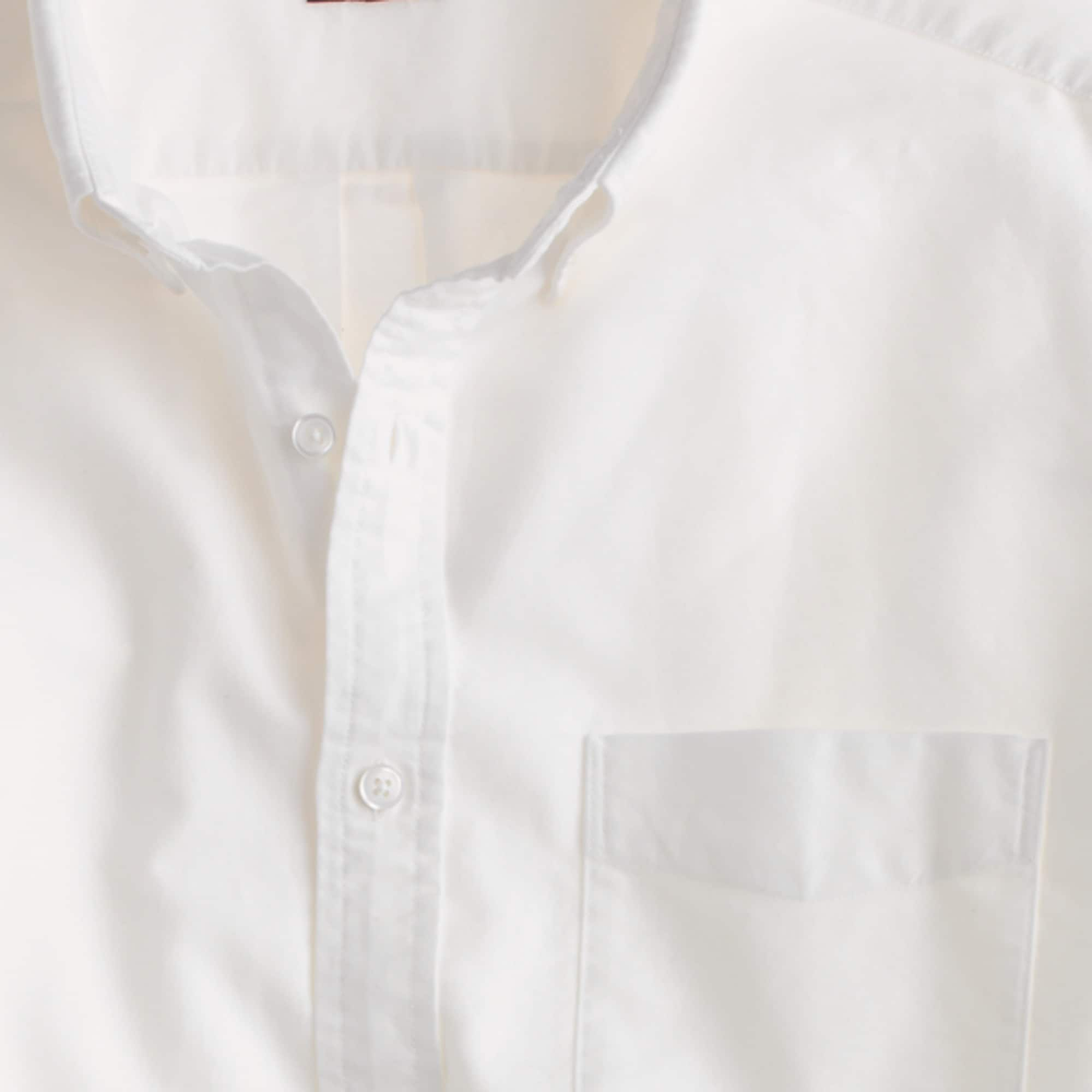 Slim vintage oxford shirt in white