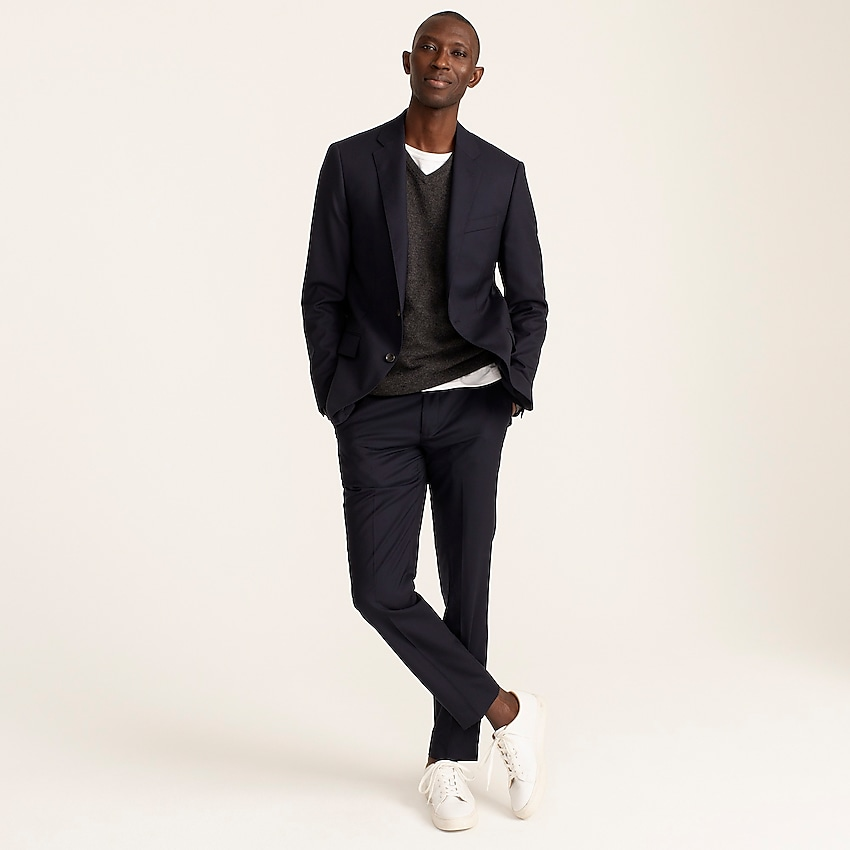 j.crew: ludlow slim-fit suit jacket with double vent in italian wool for men, right side, view zoomed