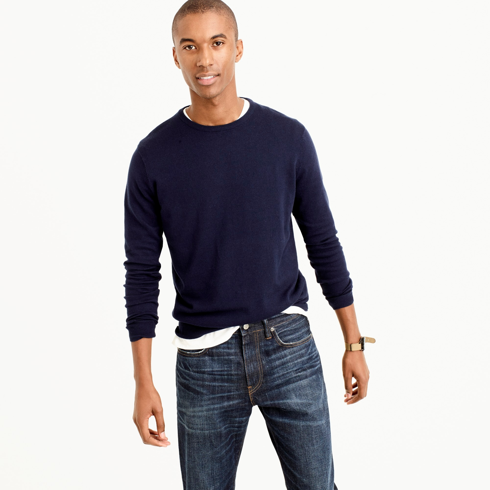 Tall cotton-cashmere crewneck sweater men tall shop c
