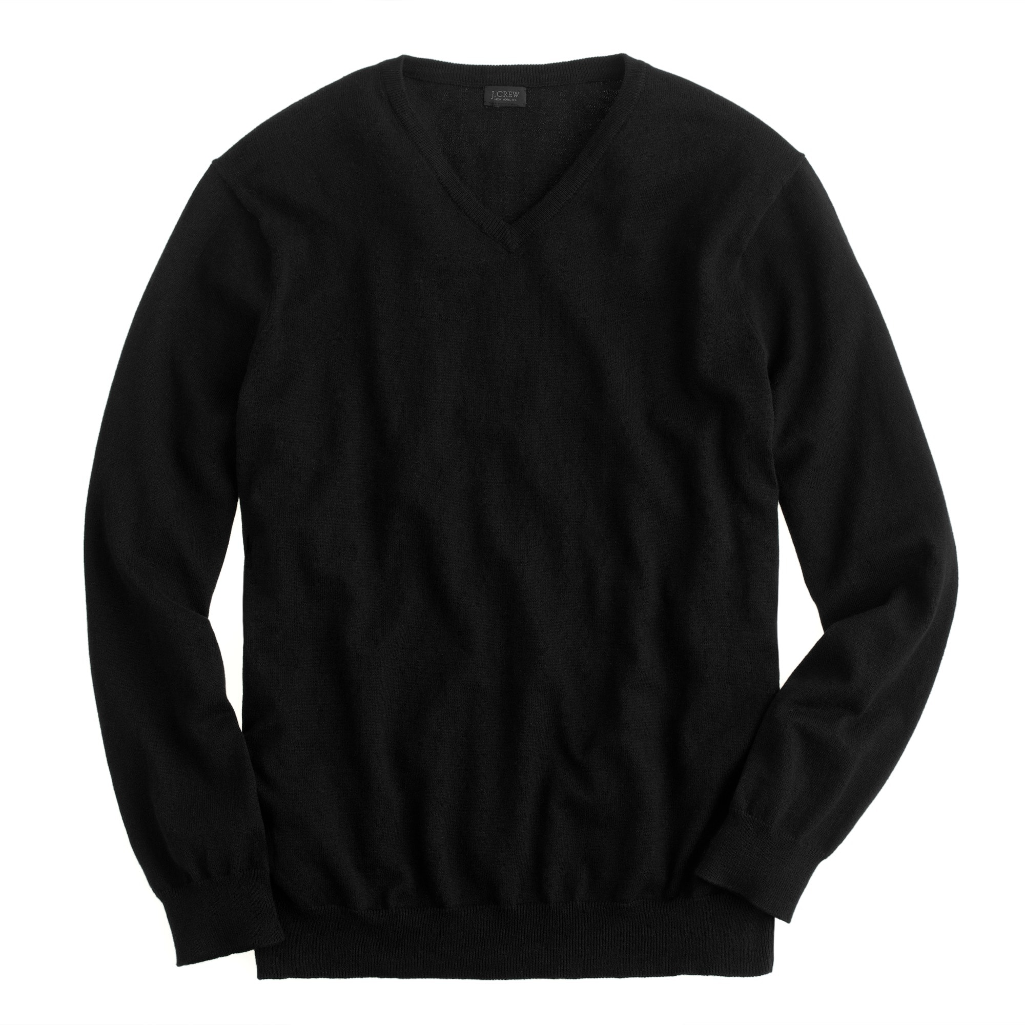 Image 2 for Slim cotton-cashmere V-neck sweater