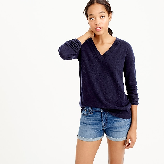 Italian cashmere V-neck sweater : Women sweaters | J.Crew